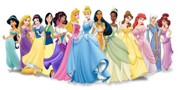 Calendario delle principesse da colorare per bambine