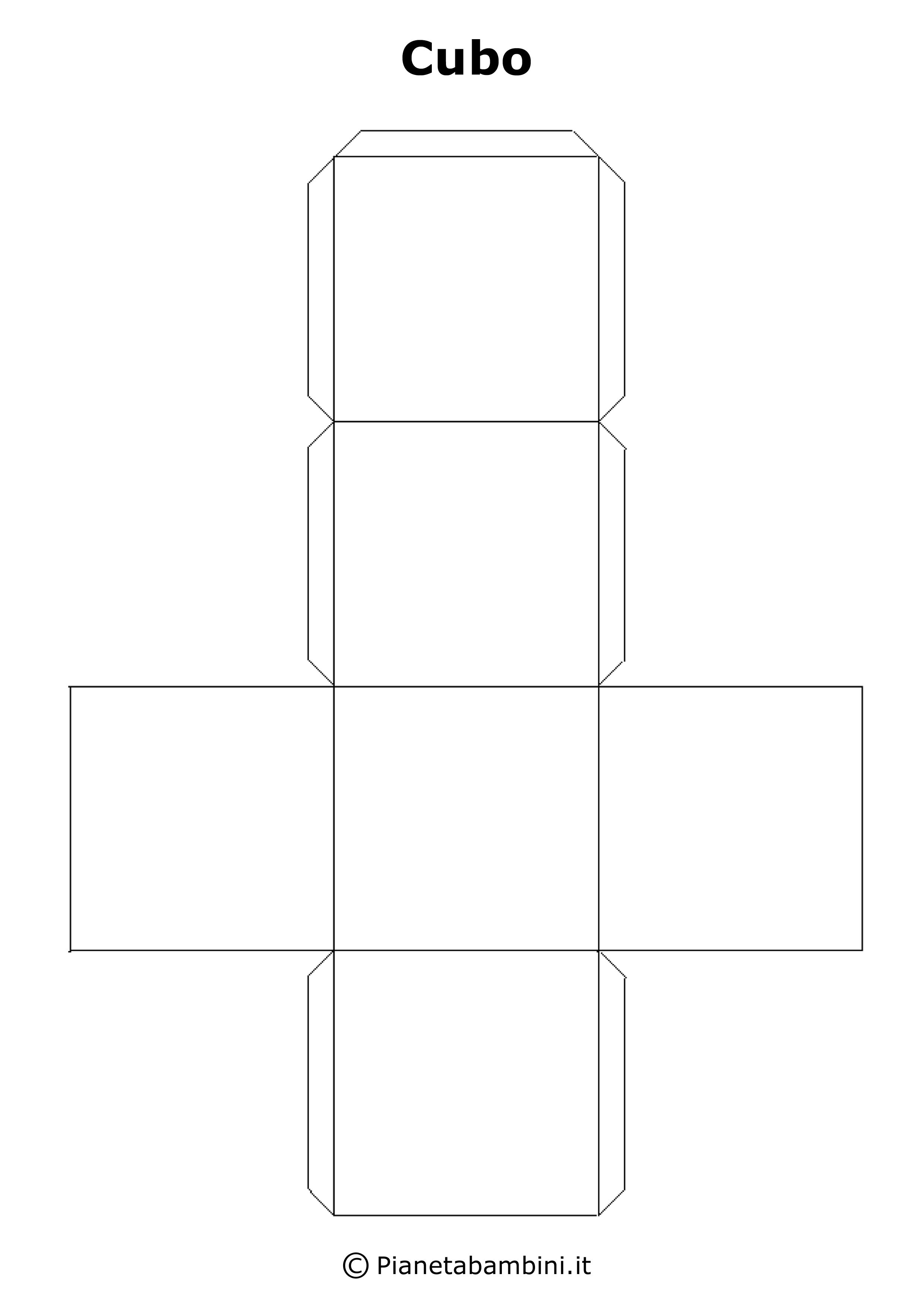 Costruire un cubo di carta creare con la carta for Case da costruire