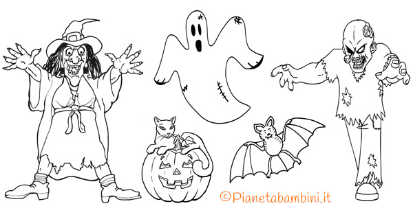 296 Disegni Di Halloween Da Colorare Pianetabambini It