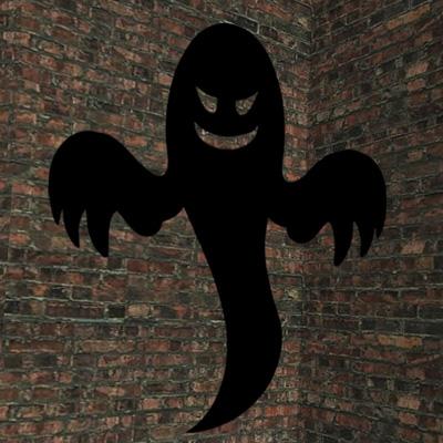 Foto delle decorazioni di Halloween con il fantasma