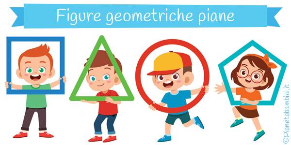 Figure geometriche piane da stampar e ritagliare per bambini