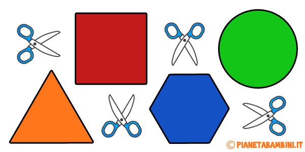 Stampare e ritagliare figure geometriche piane