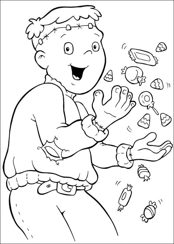 Bambino con le sue caramelle
