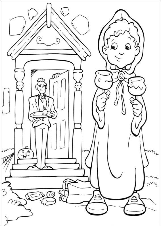 Bambina che riceve i dolcetti