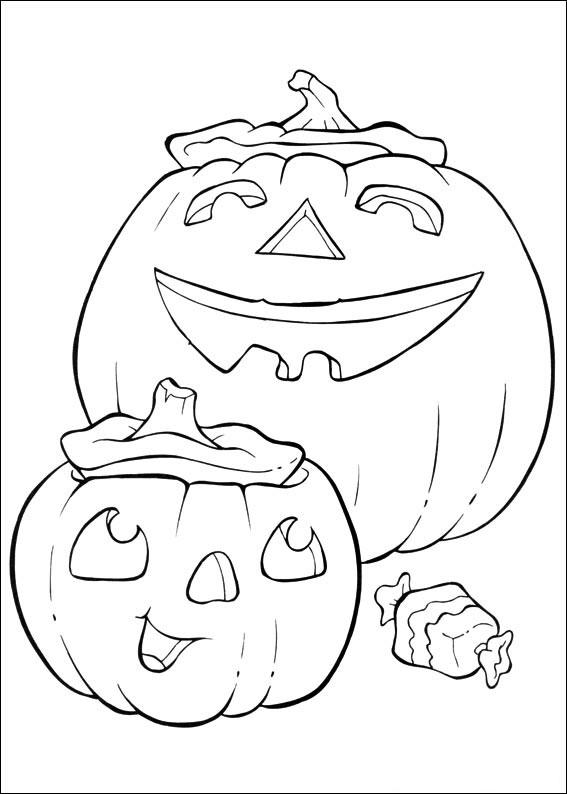 Zucche di Halloween da colorare