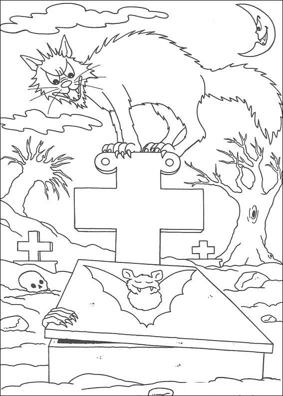 Gatto sulla tomba