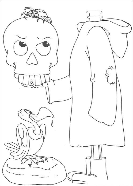 Mostro con testa in mano e avvoltoio