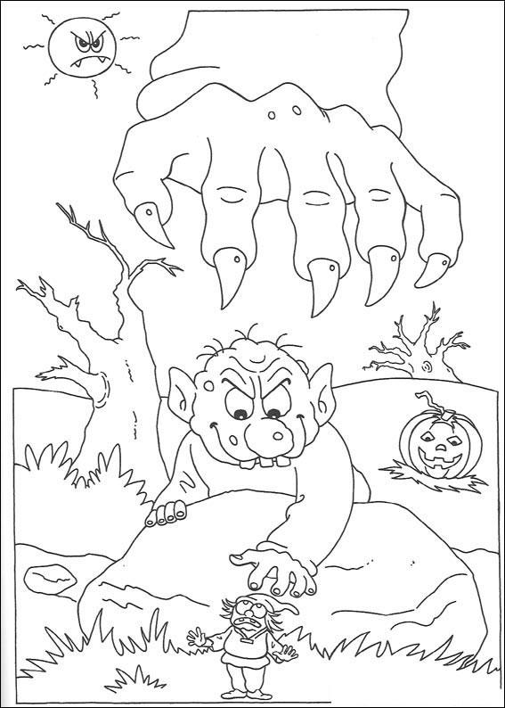 Mano gigante del mostro