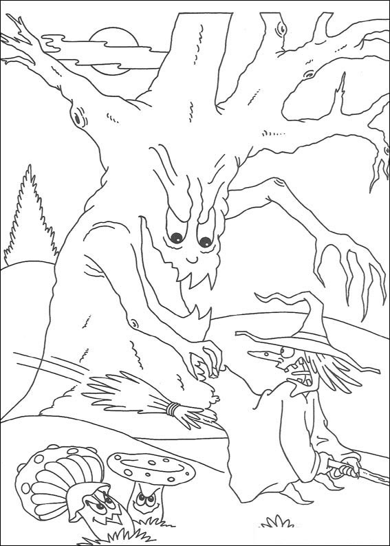 L'albero afferra la strega