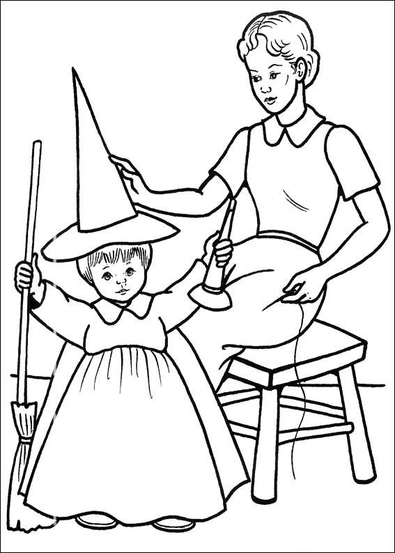 Vestito da strega per una bambina