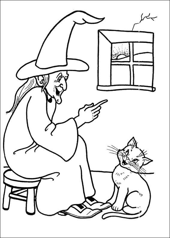 La strega e il suo gatto