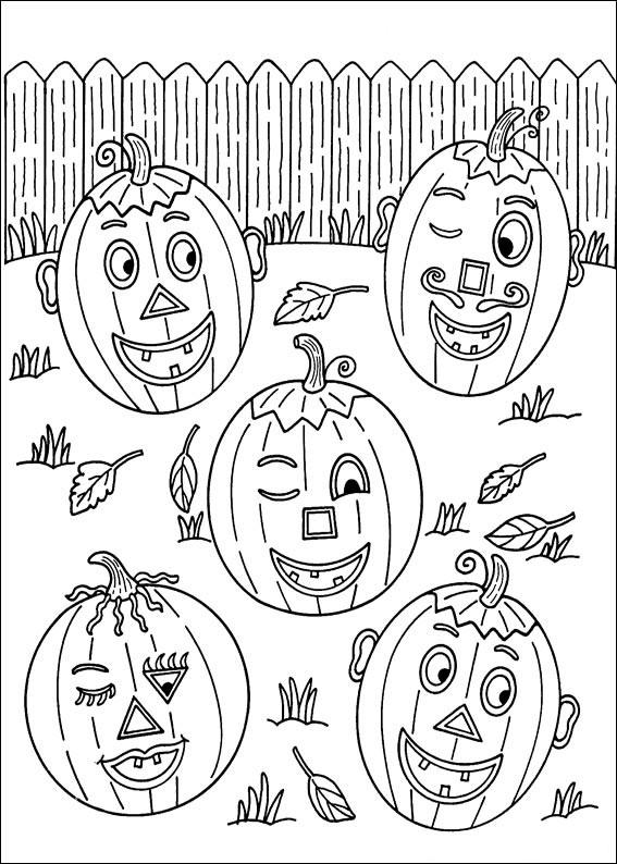 Cinque zucche di Halloween