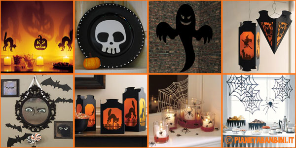 Lavoretti di halloween 9 decorazioni con carta e for Decorazioni torte halloween fai da te
