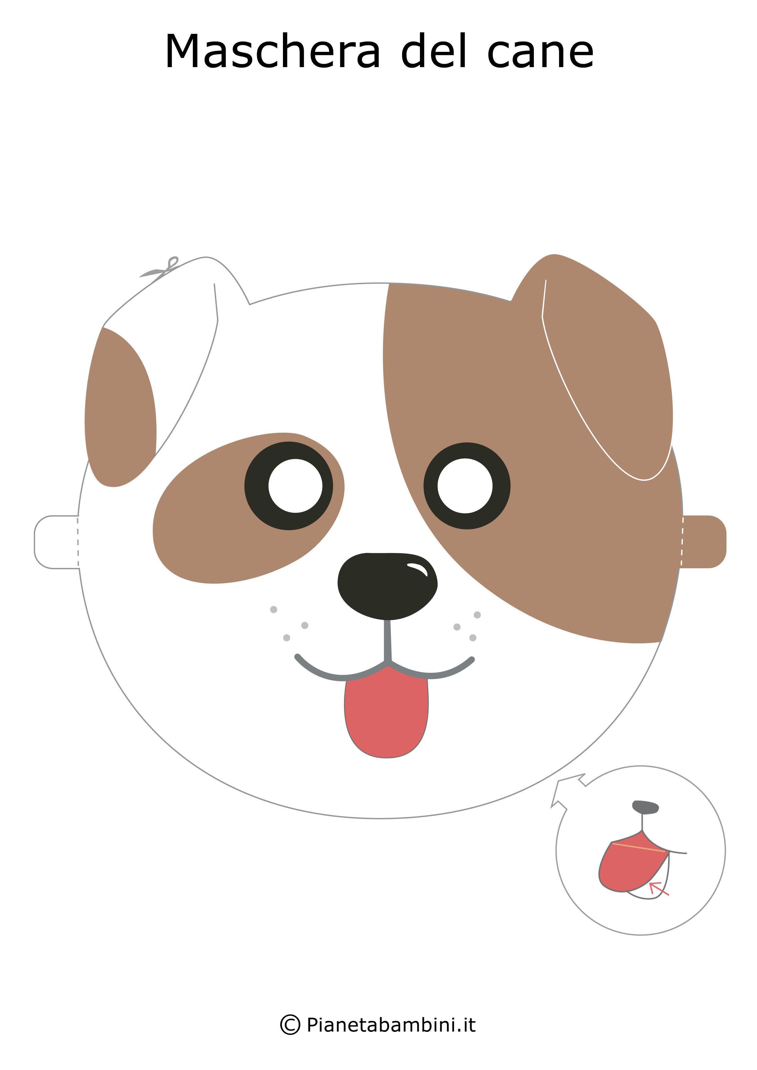 Maschere di animali da stampare e ritagliare per bambini for Cane disegno da colorare