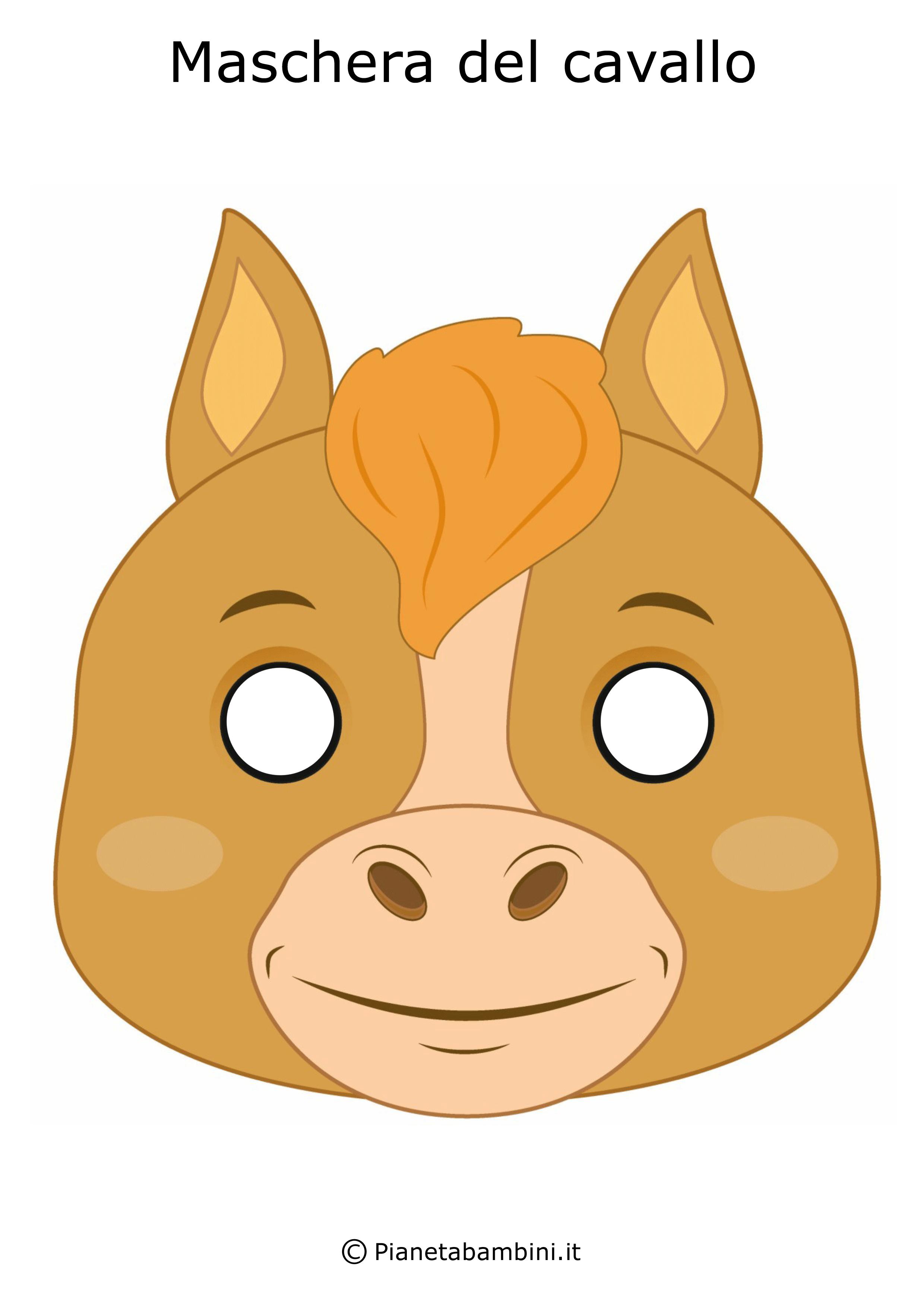 Immagine della maschera del cavallo