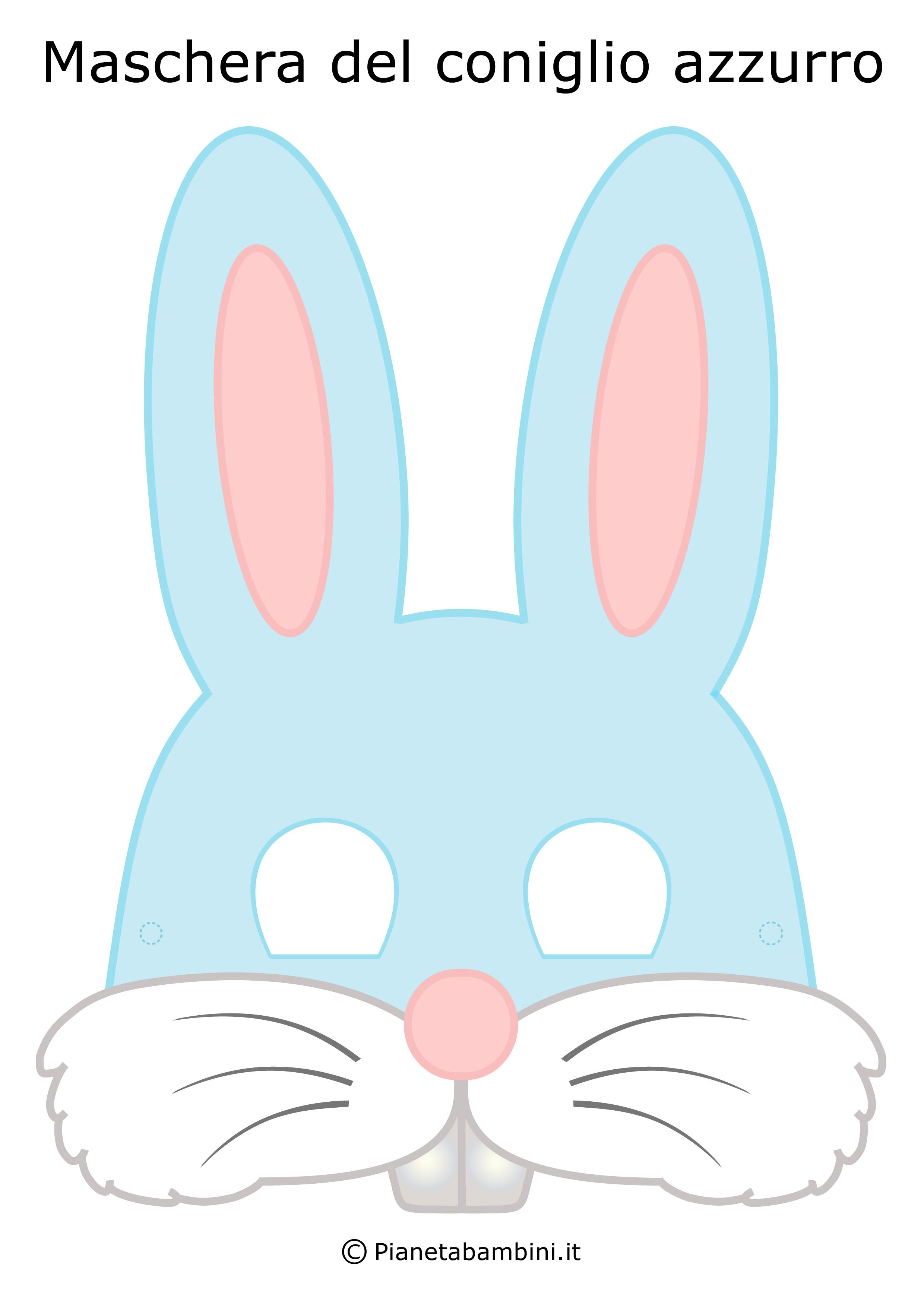 Immagine della maschera da coniglio azzurro