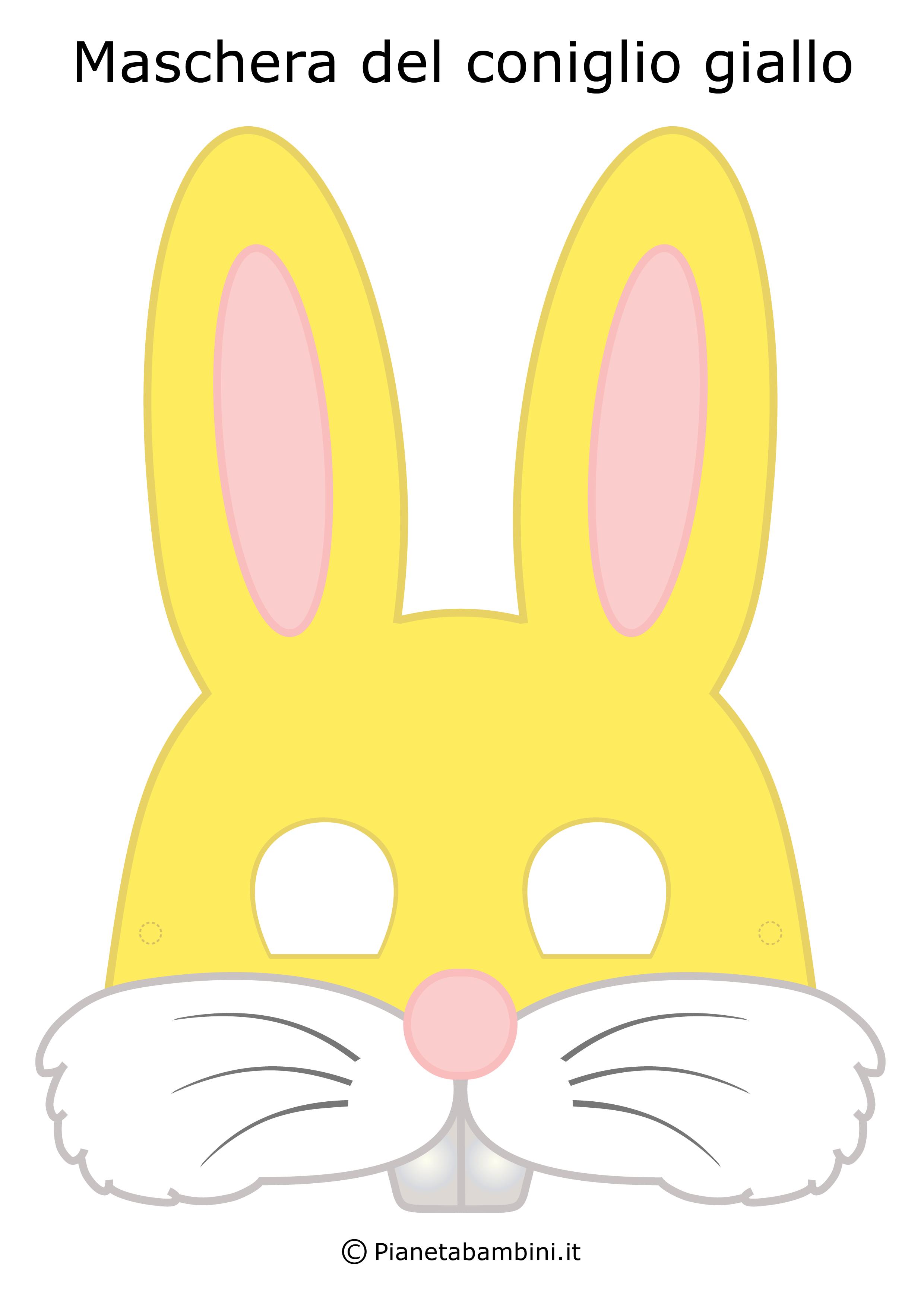 Immagine della maschera da coniglio giallo