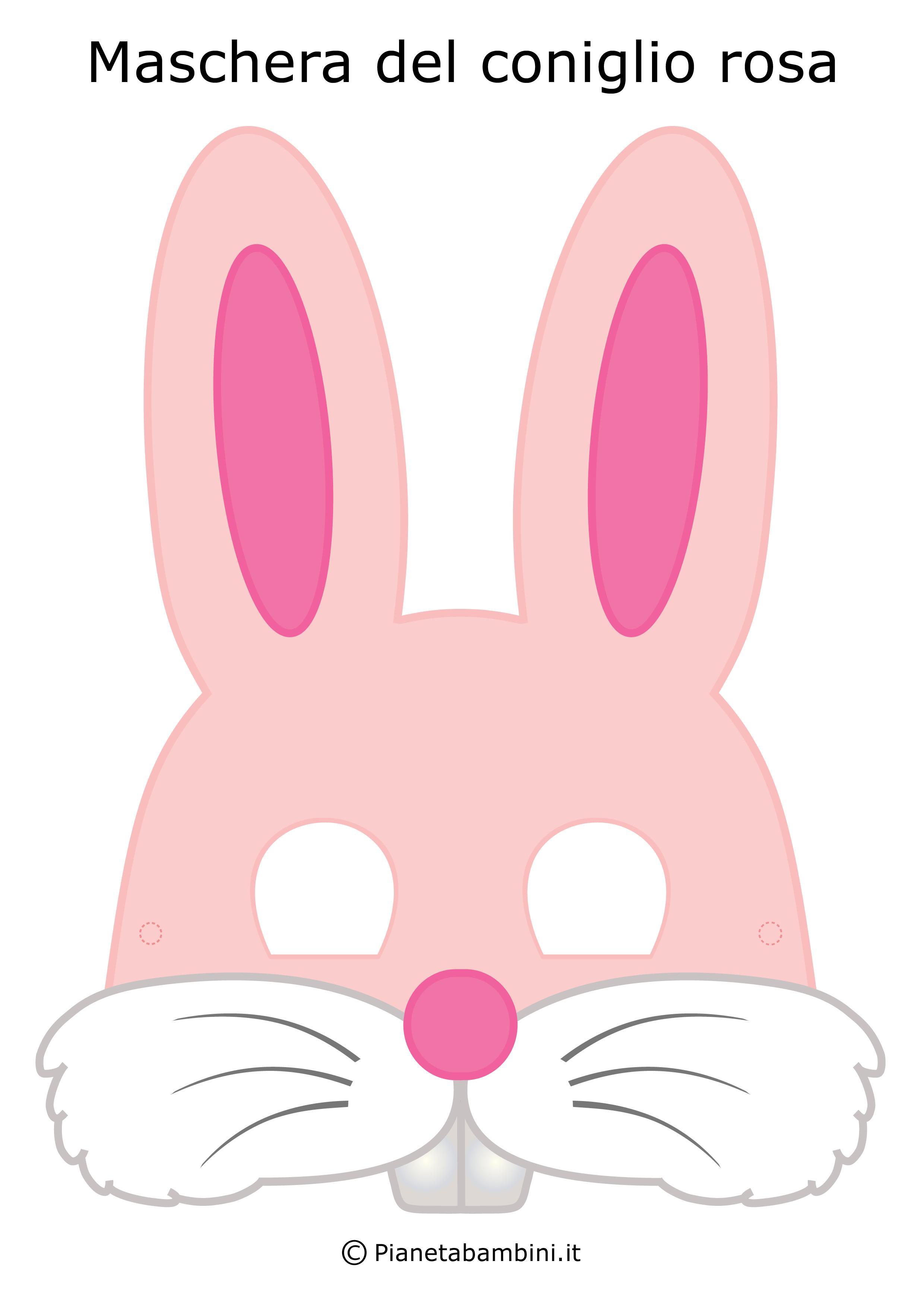 Immagine della maschera del coniglio rosa