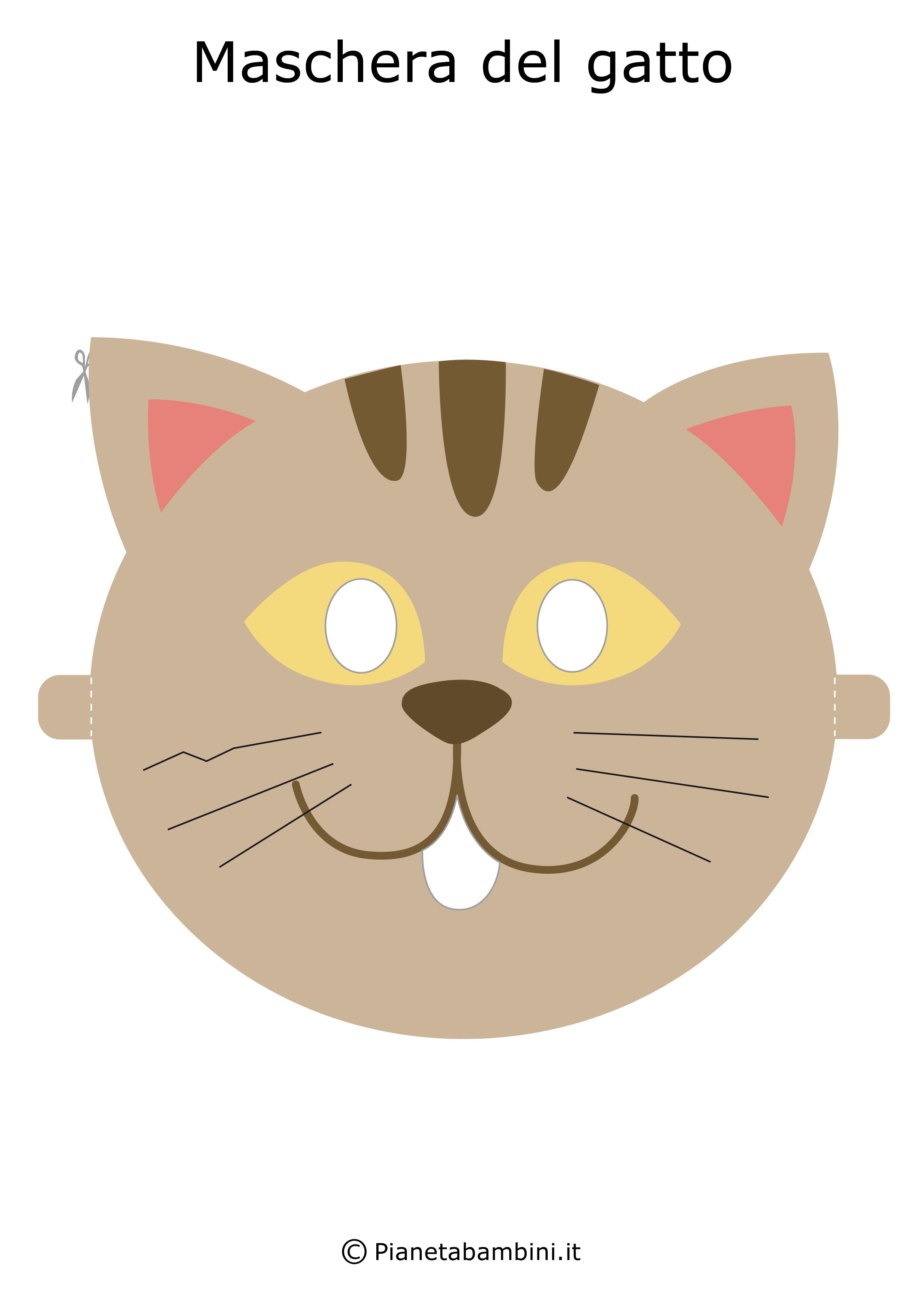 Immagine della maschera del gatto