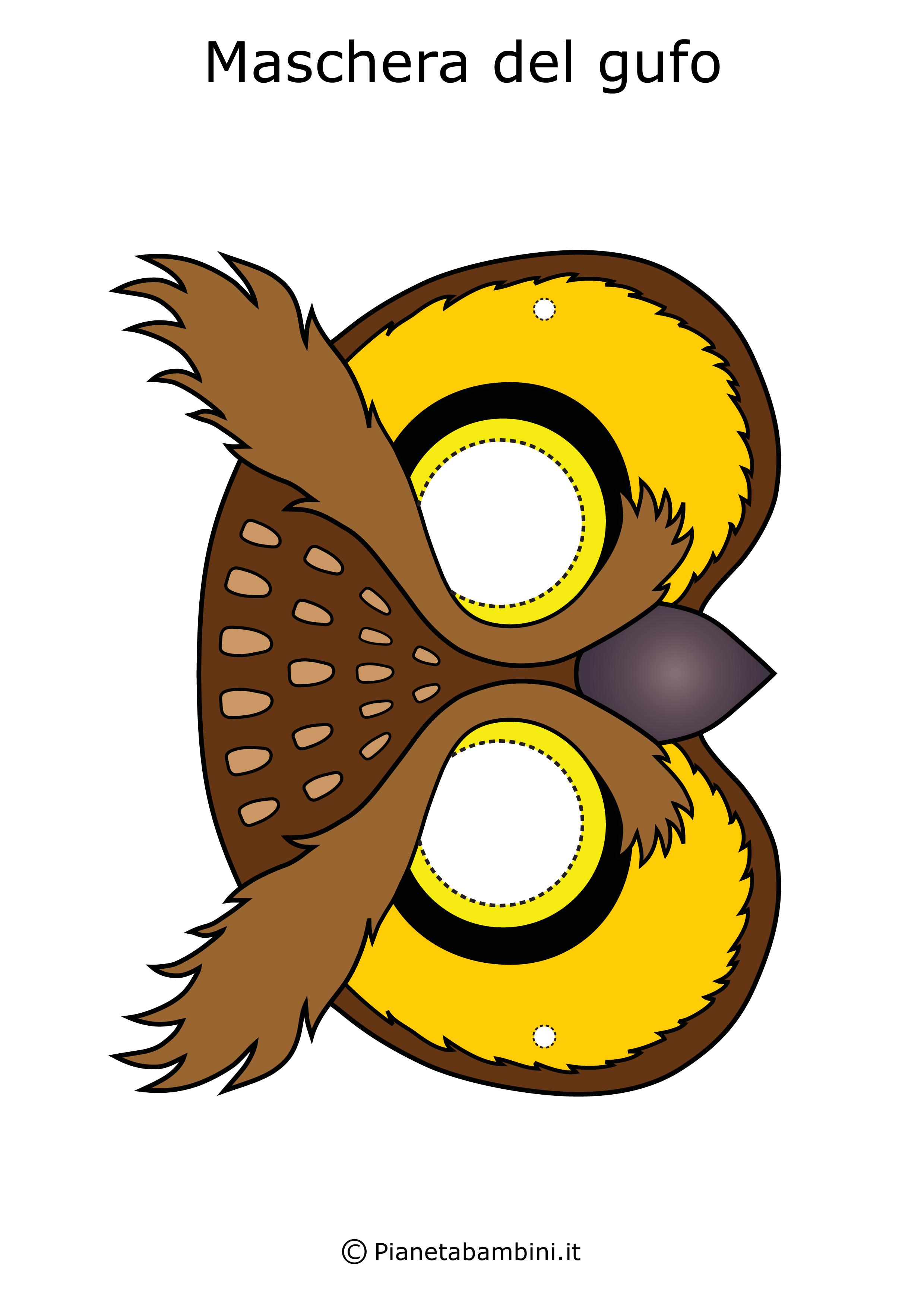 Immagine della maschera del gufo
