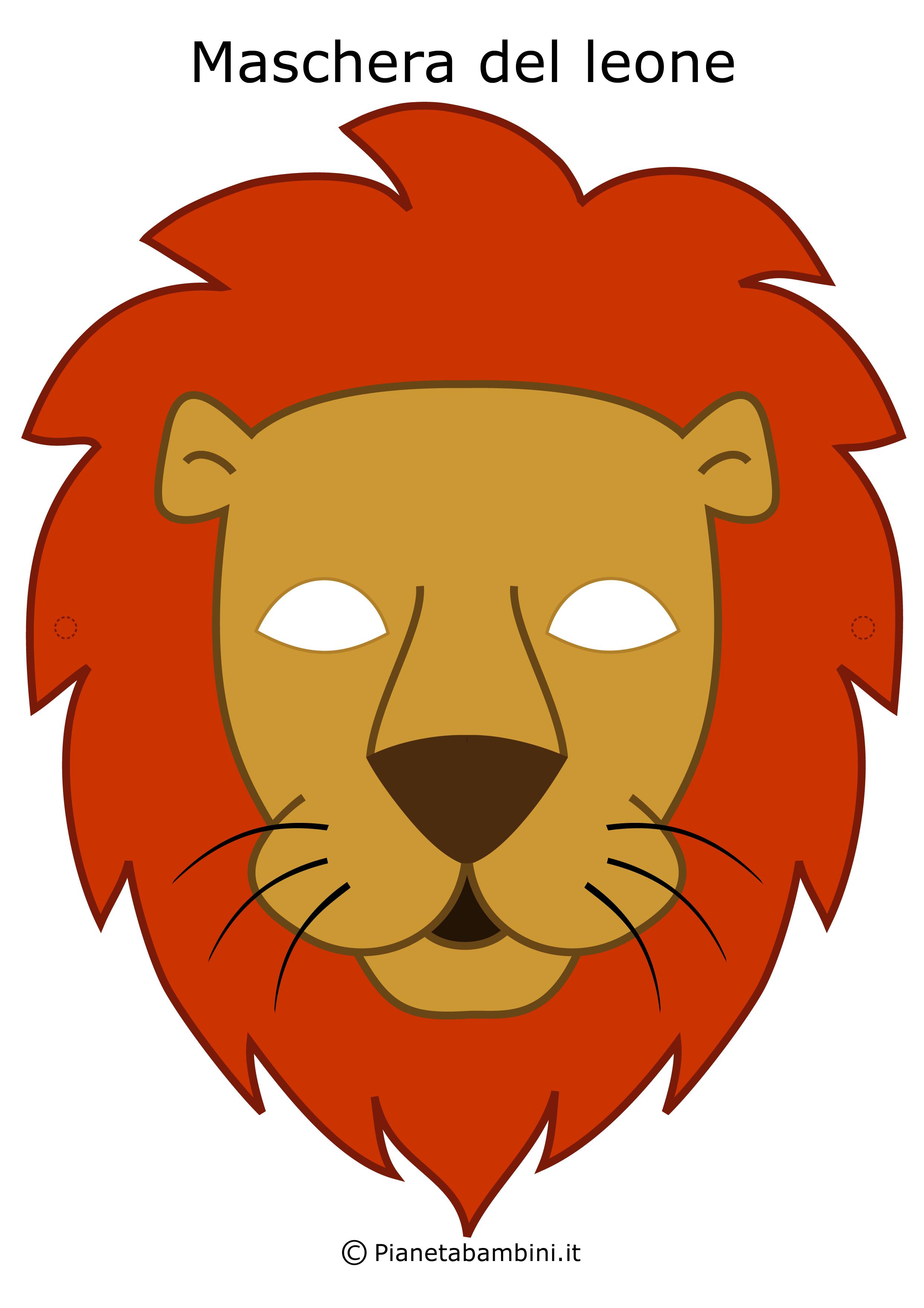 Immagine della maschera del leone