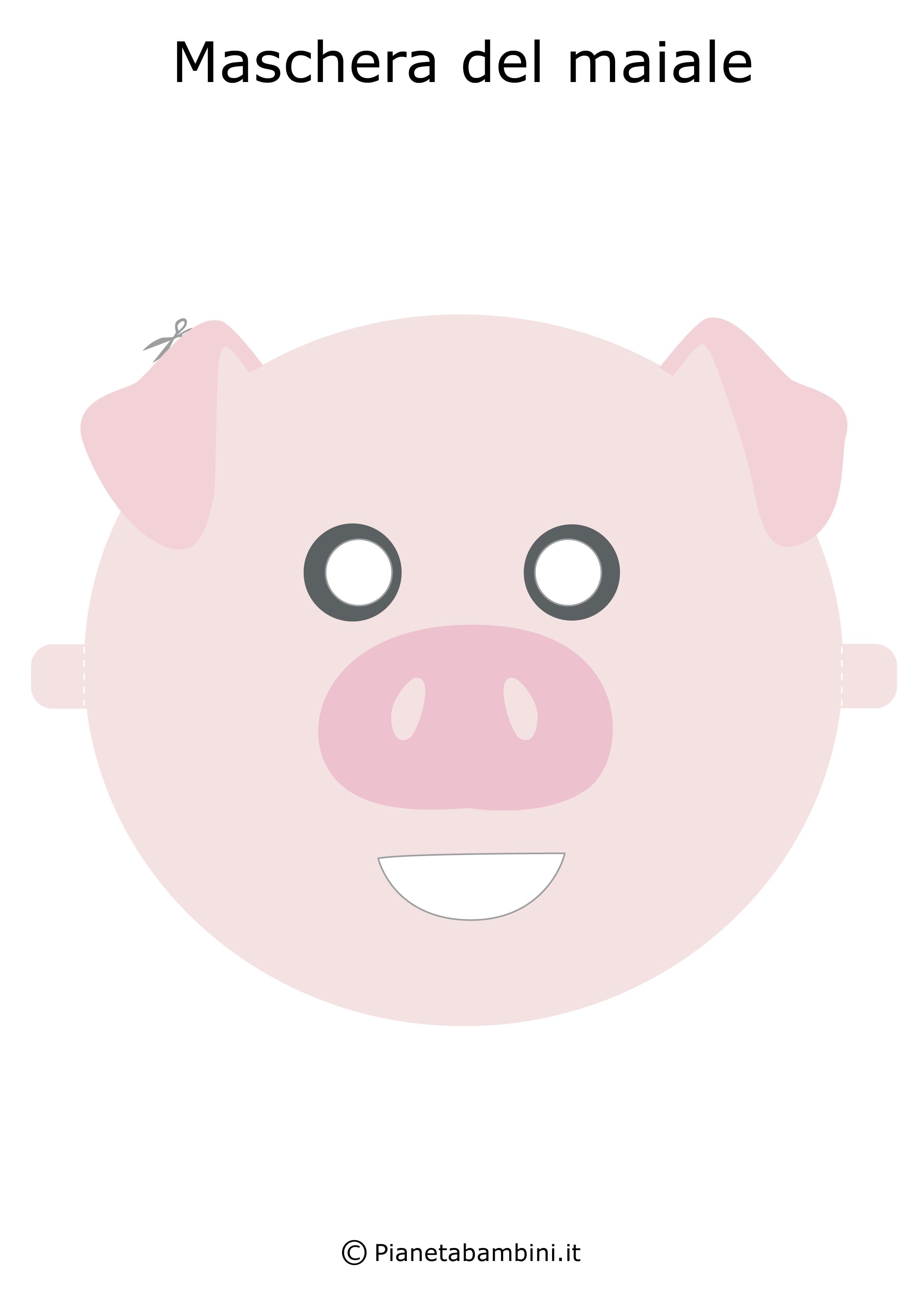 Immagine della maschera del maiale