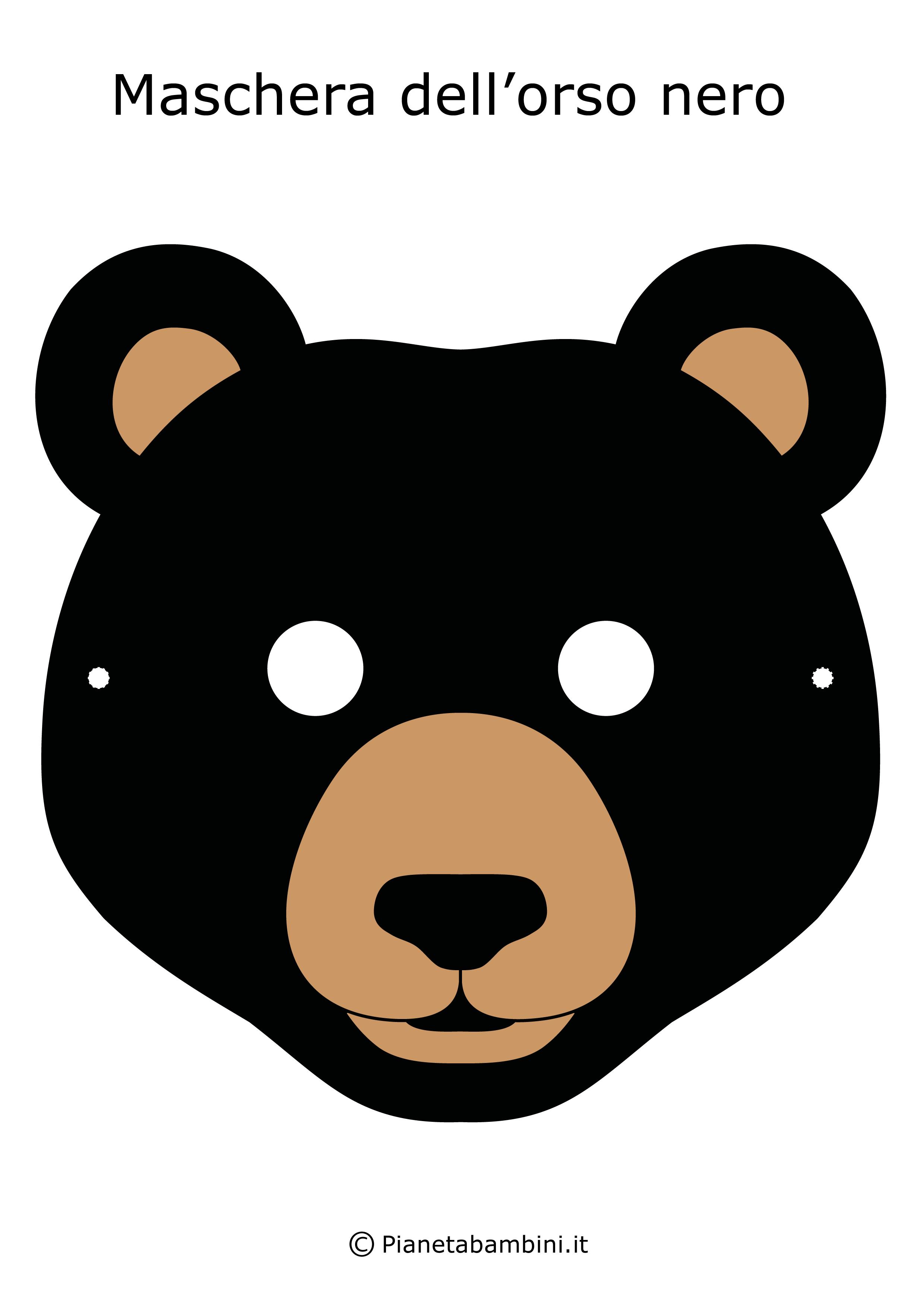 Immagine della maschera dell'orso nero