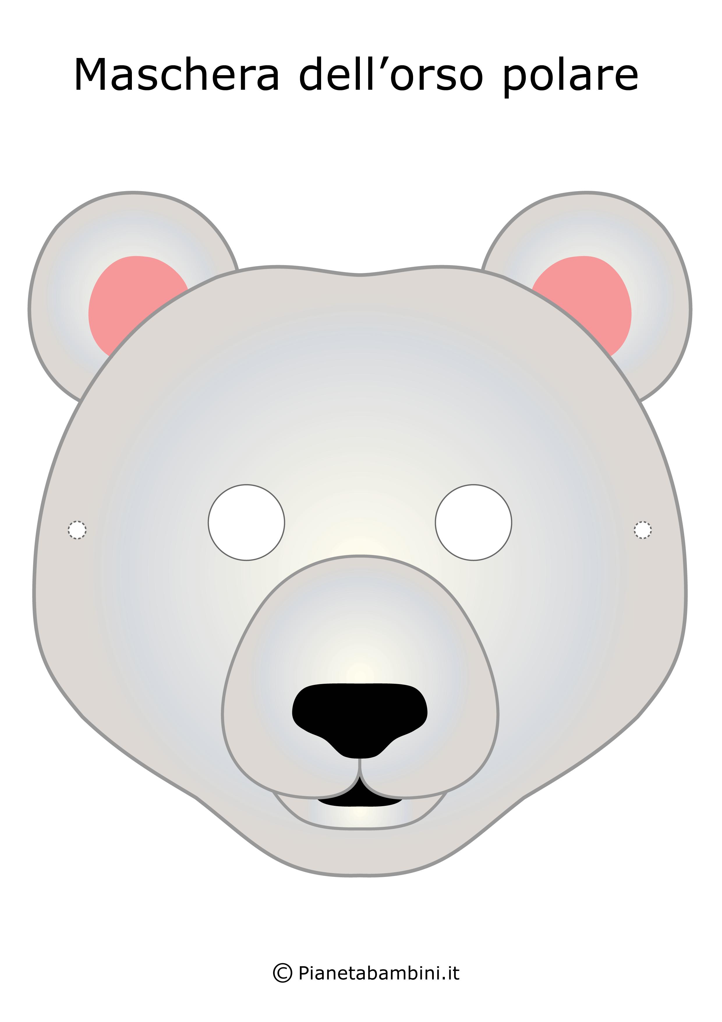 Immagine della maschera dell'orso polare