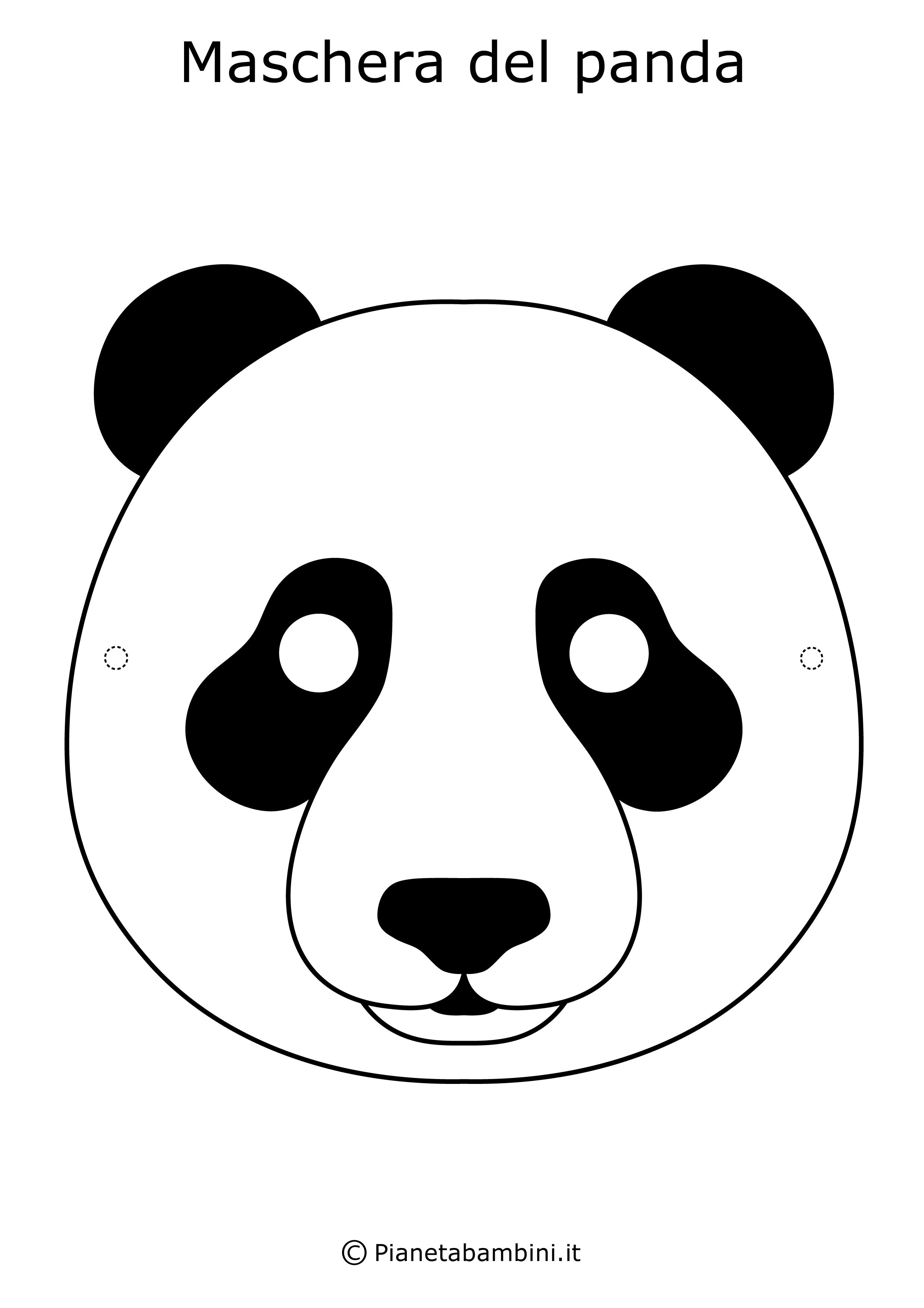 Immagine della maschera da panda