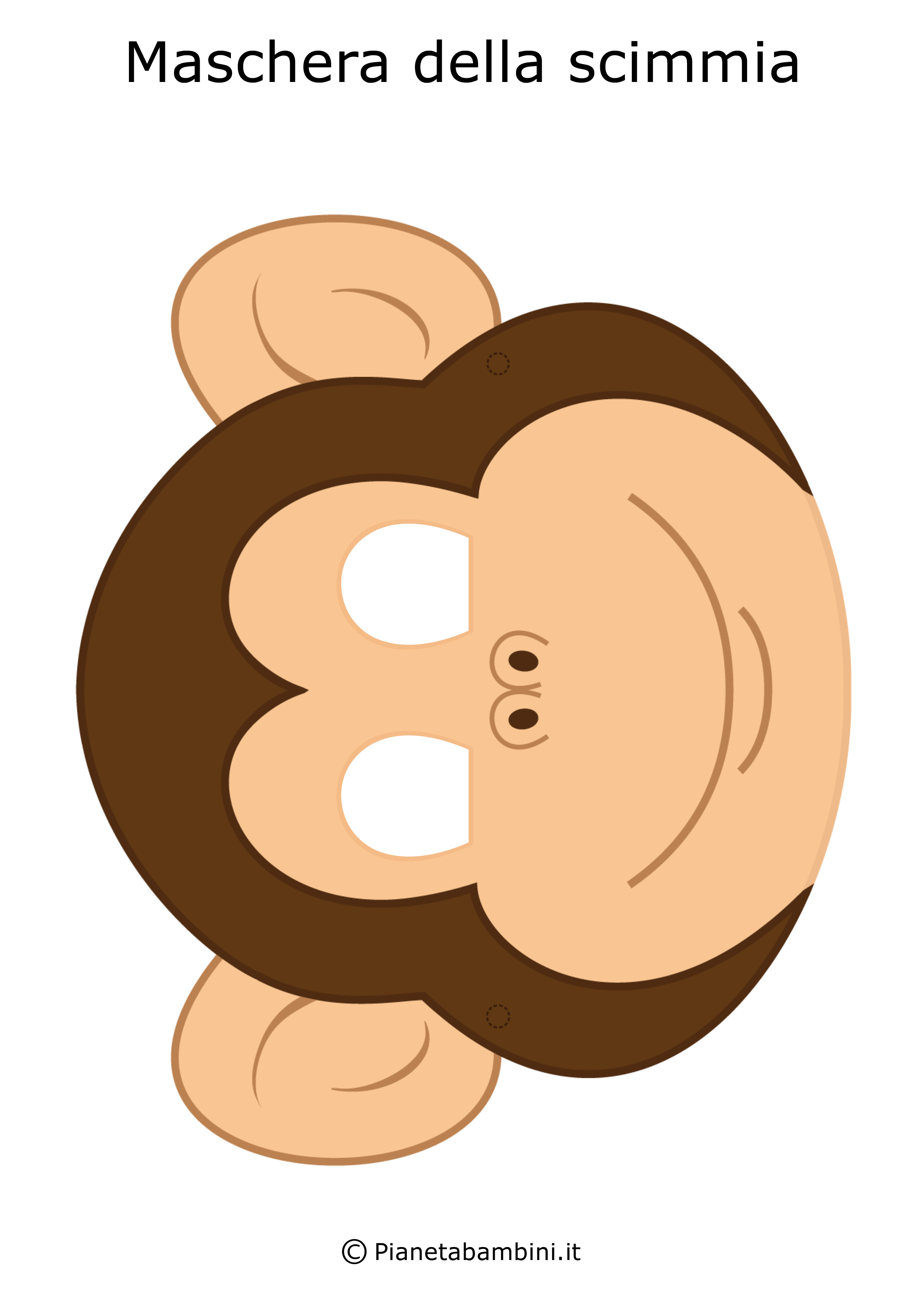 Immagine maschera da scimmia