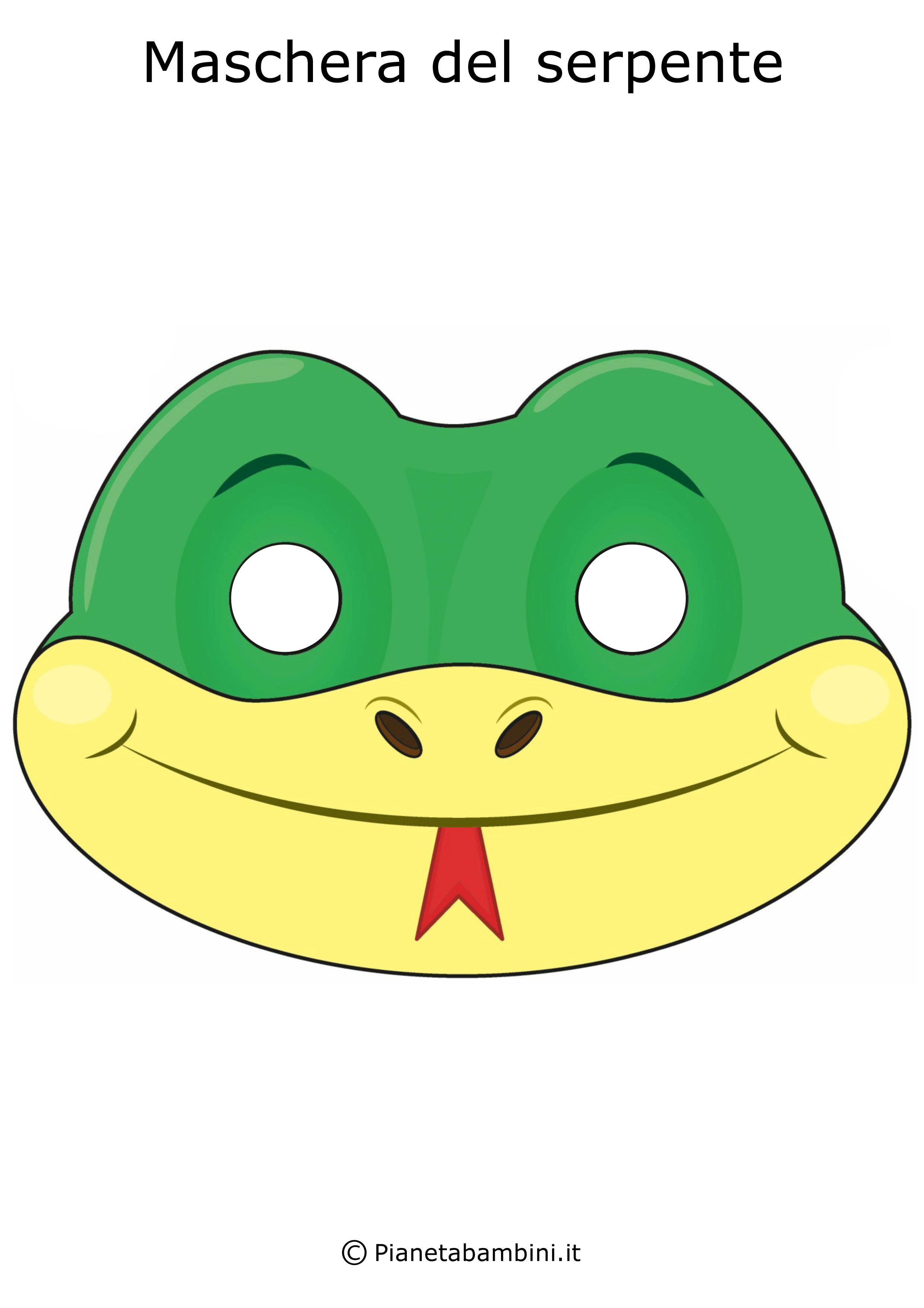 Immagine della maschera del serpente