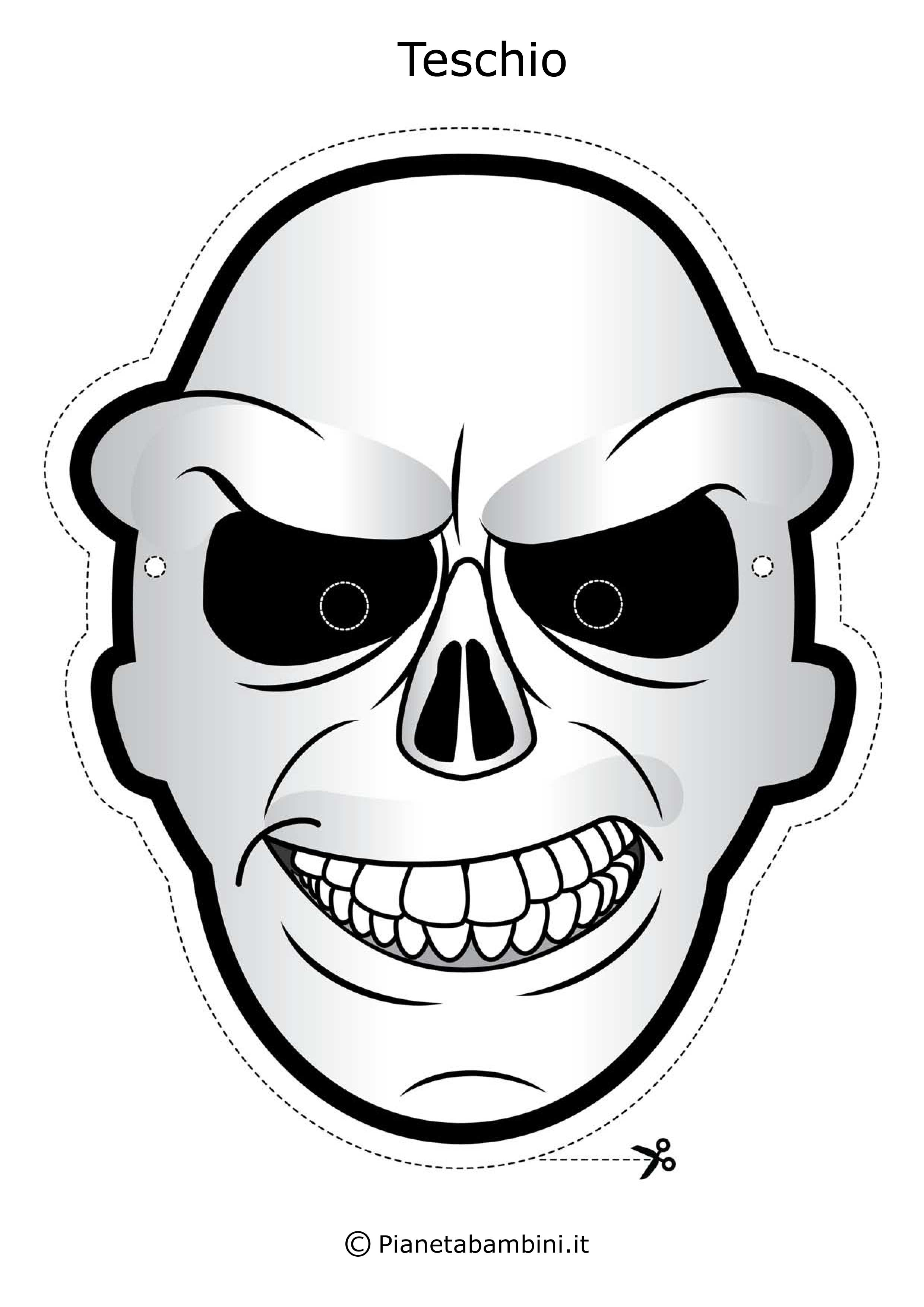 Maschere di halloween da stampare e colorare o gi for Pianetabambini it maschere di carnevale