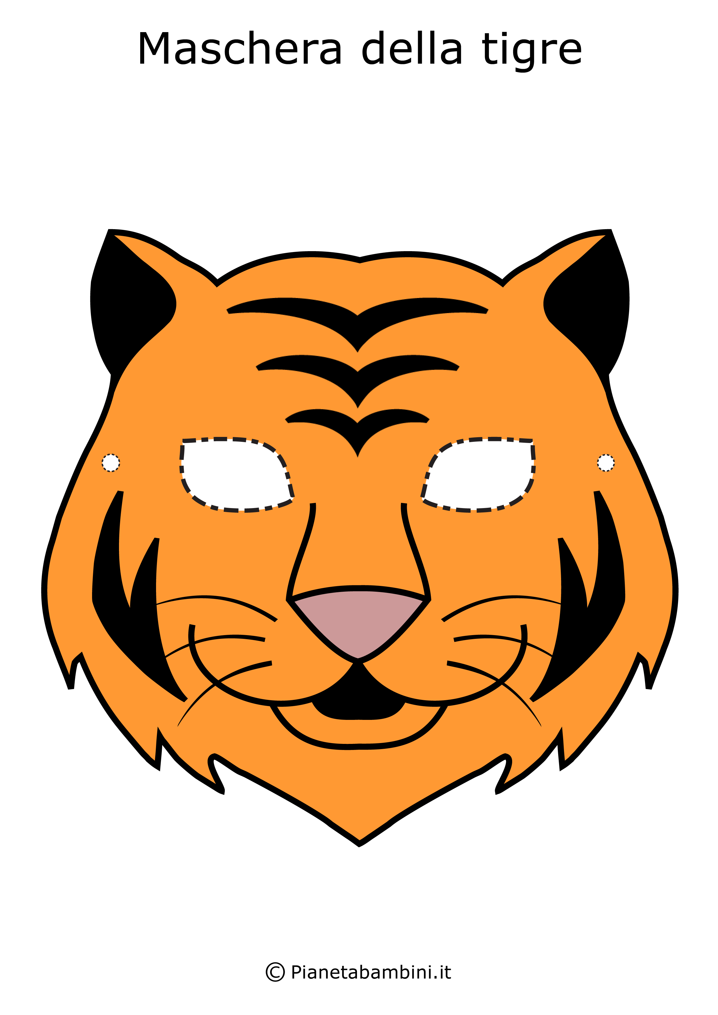Immagine della maschera della tigre
