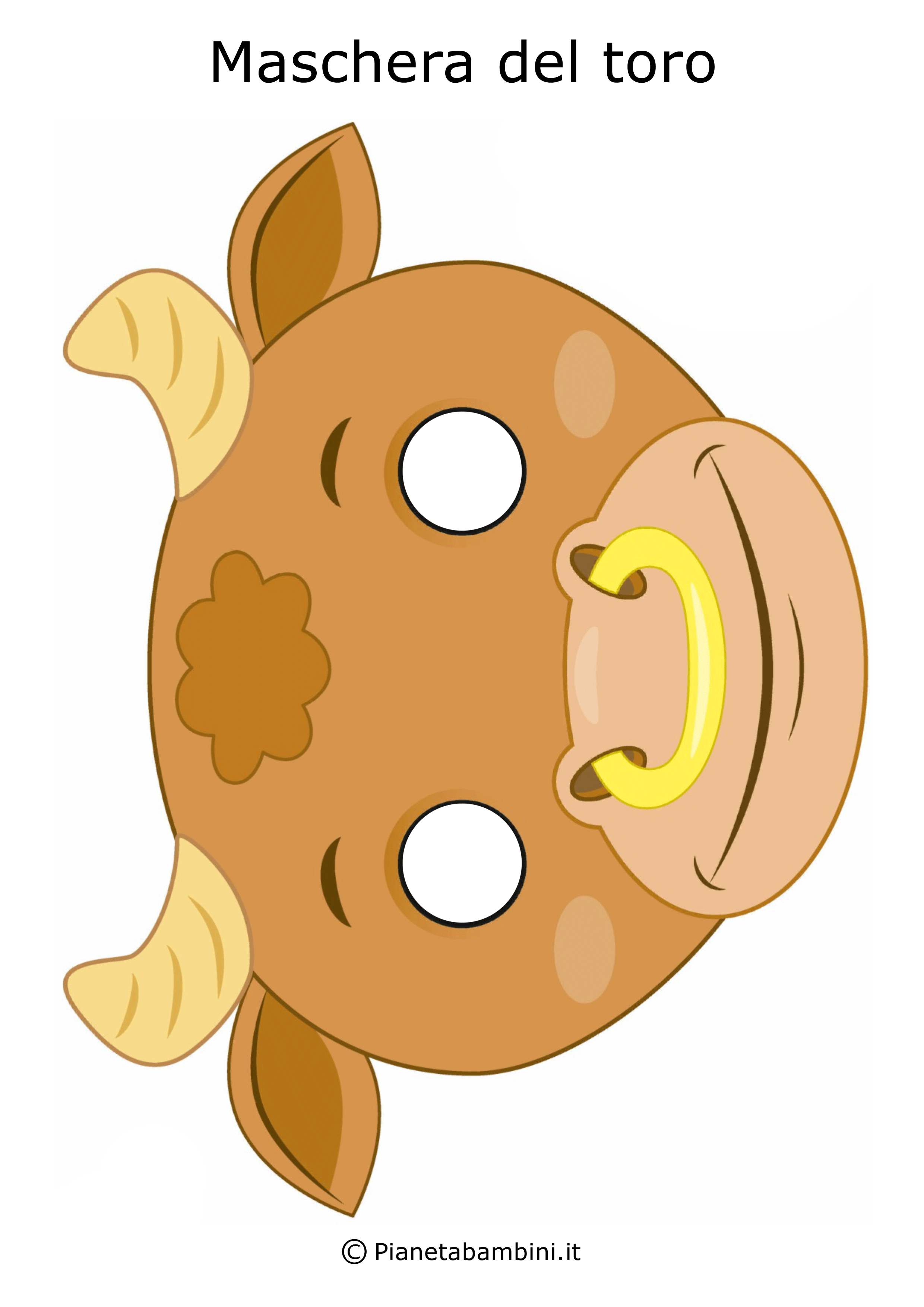 Immagine della maschera del toro