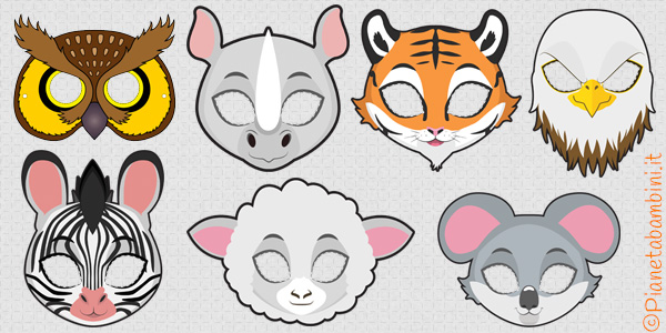 Maschere di animali per bambini