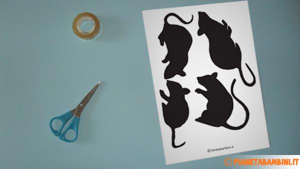 Foto dell'occorrente per creare il topo di carta