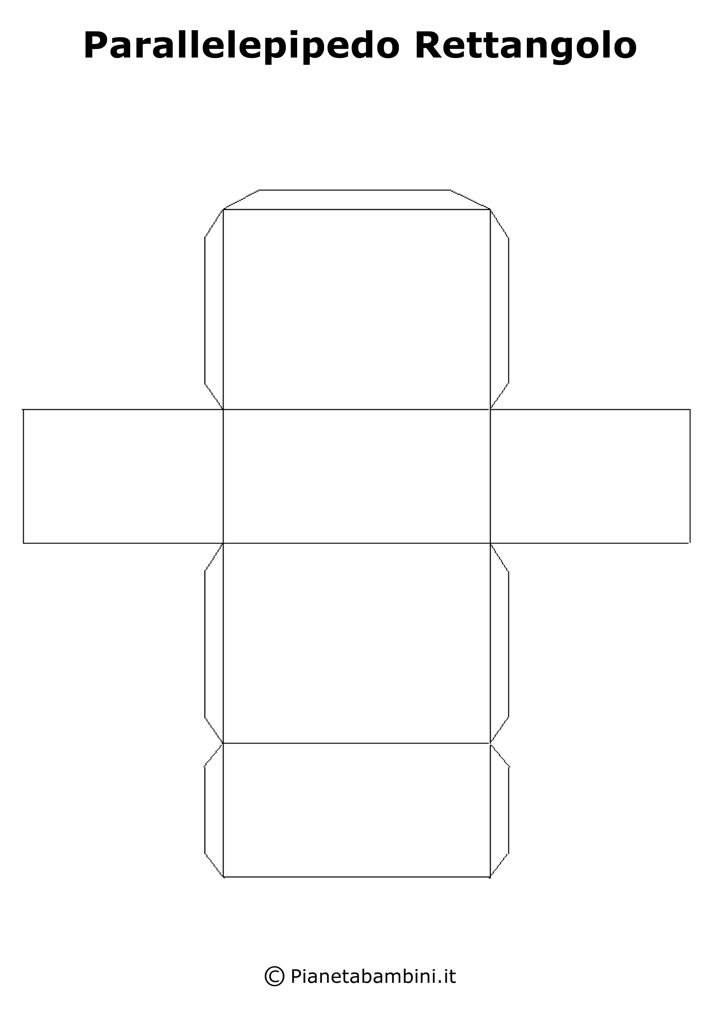 Figure geometriche solide da ritagliare e costruire for Come costruire i passaggi della scatola