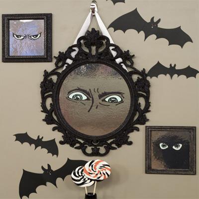 Foto delle decorazioni di Halloween con i pipistrelli