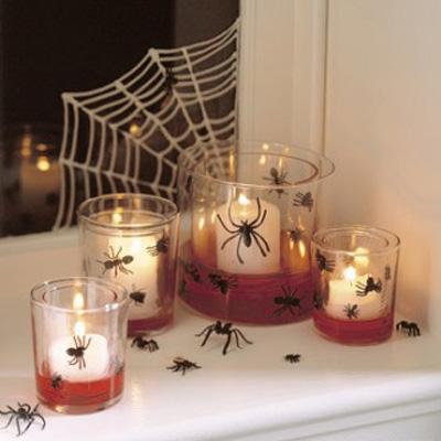 Foto delle decorazioni di Halloween con i ragni