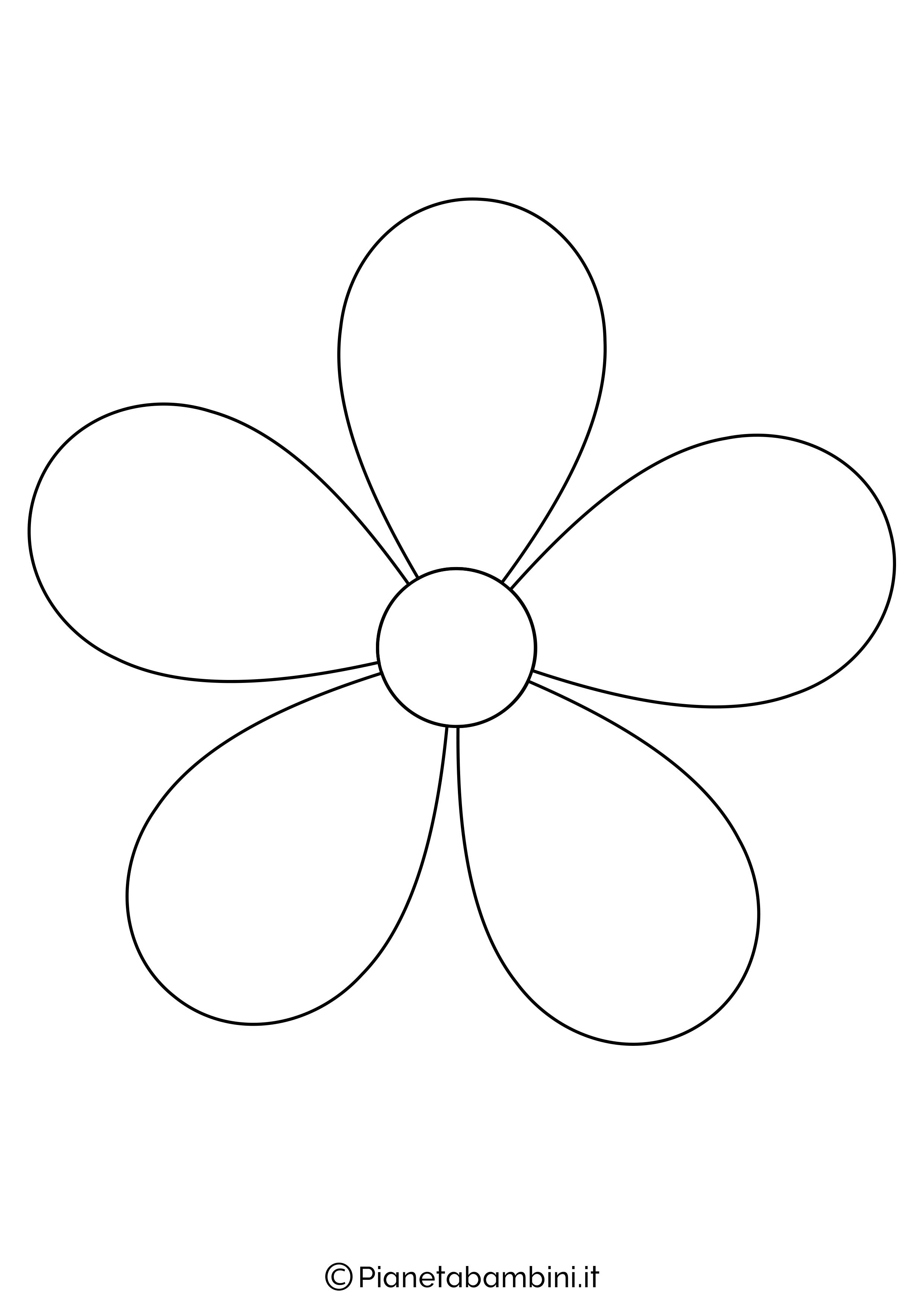Sagoma di fiore grande da stampare 1