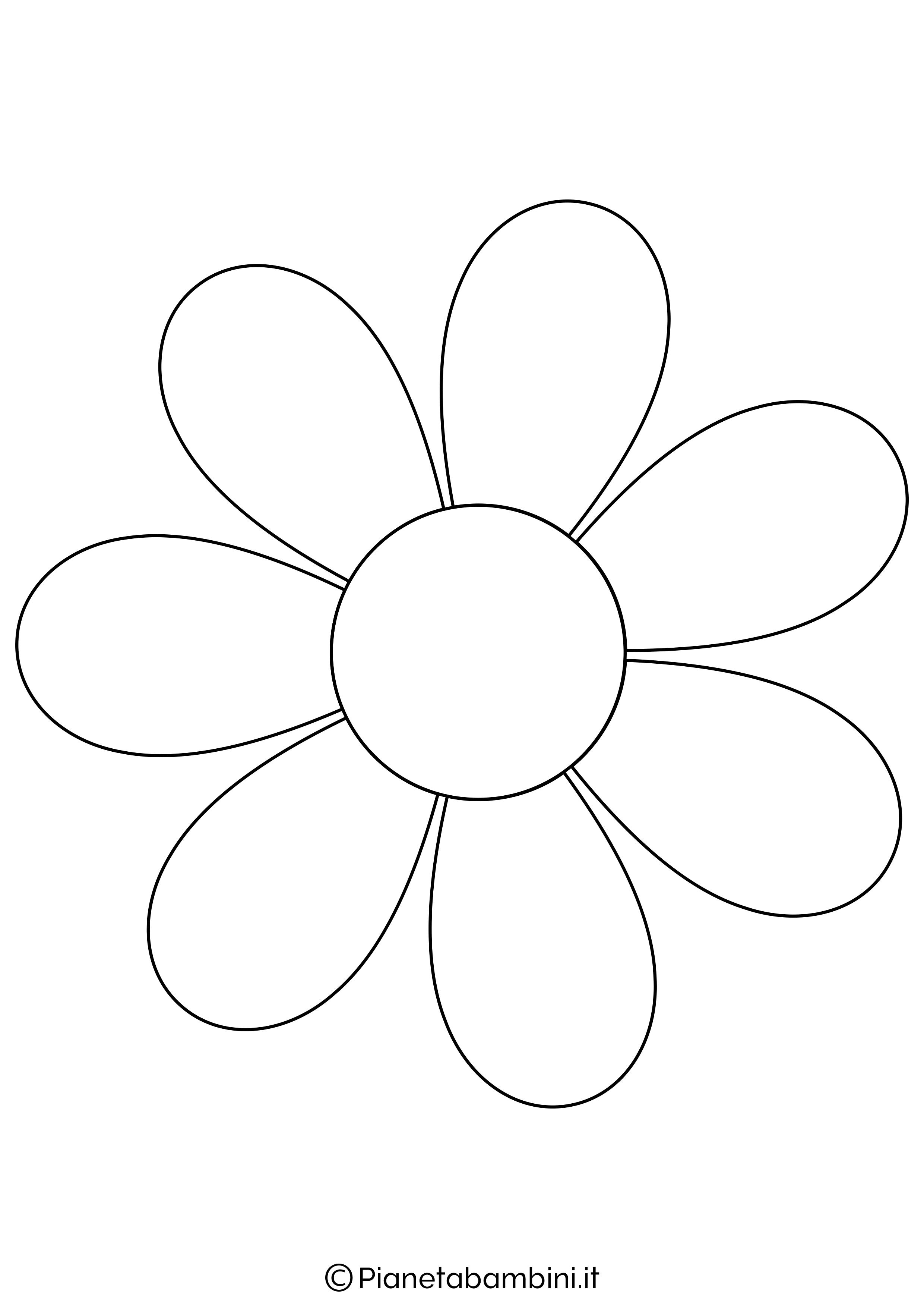 Sagoma di fiore grande da stampare 2