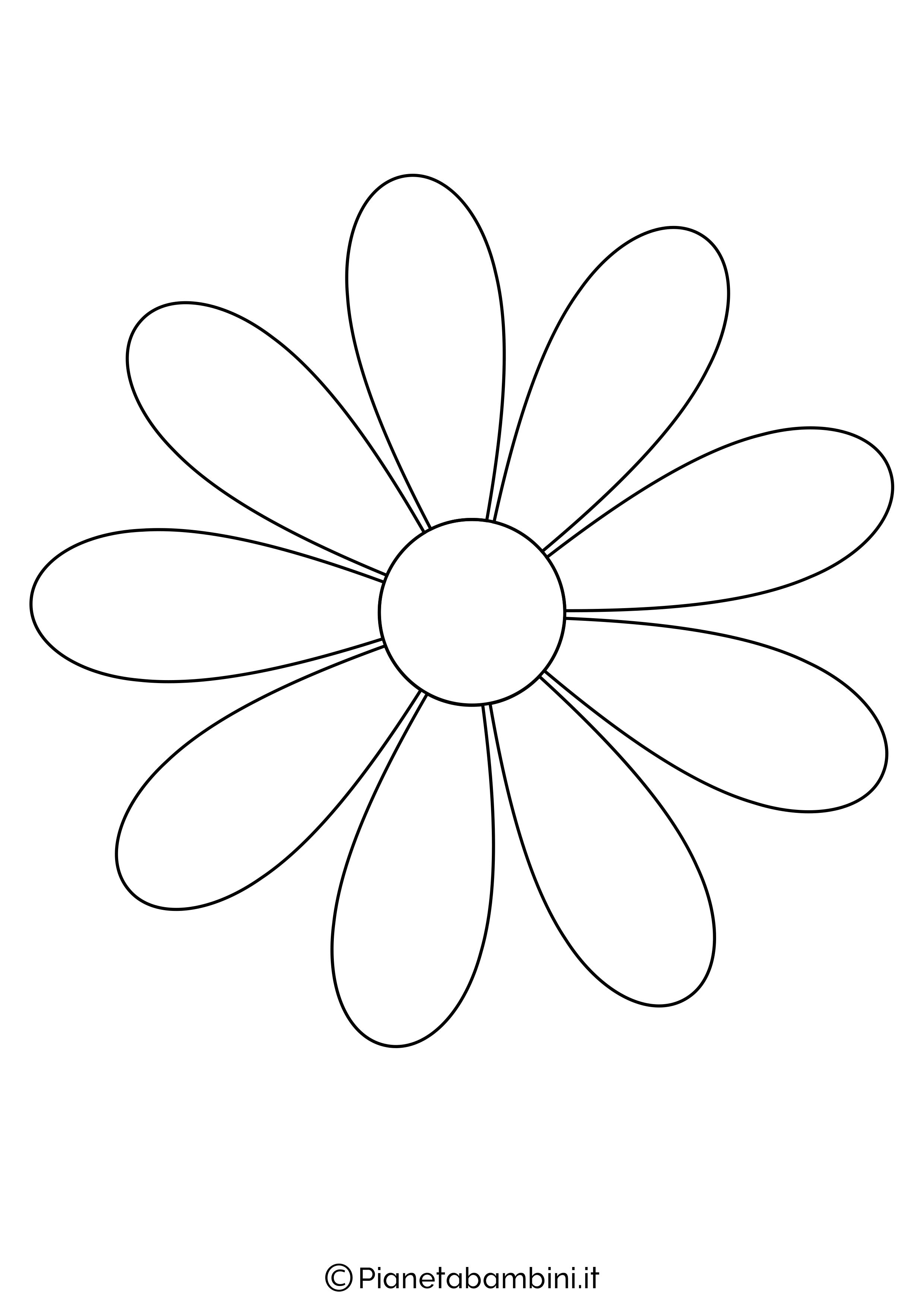 Sagoma di fiore grande da stampare 3