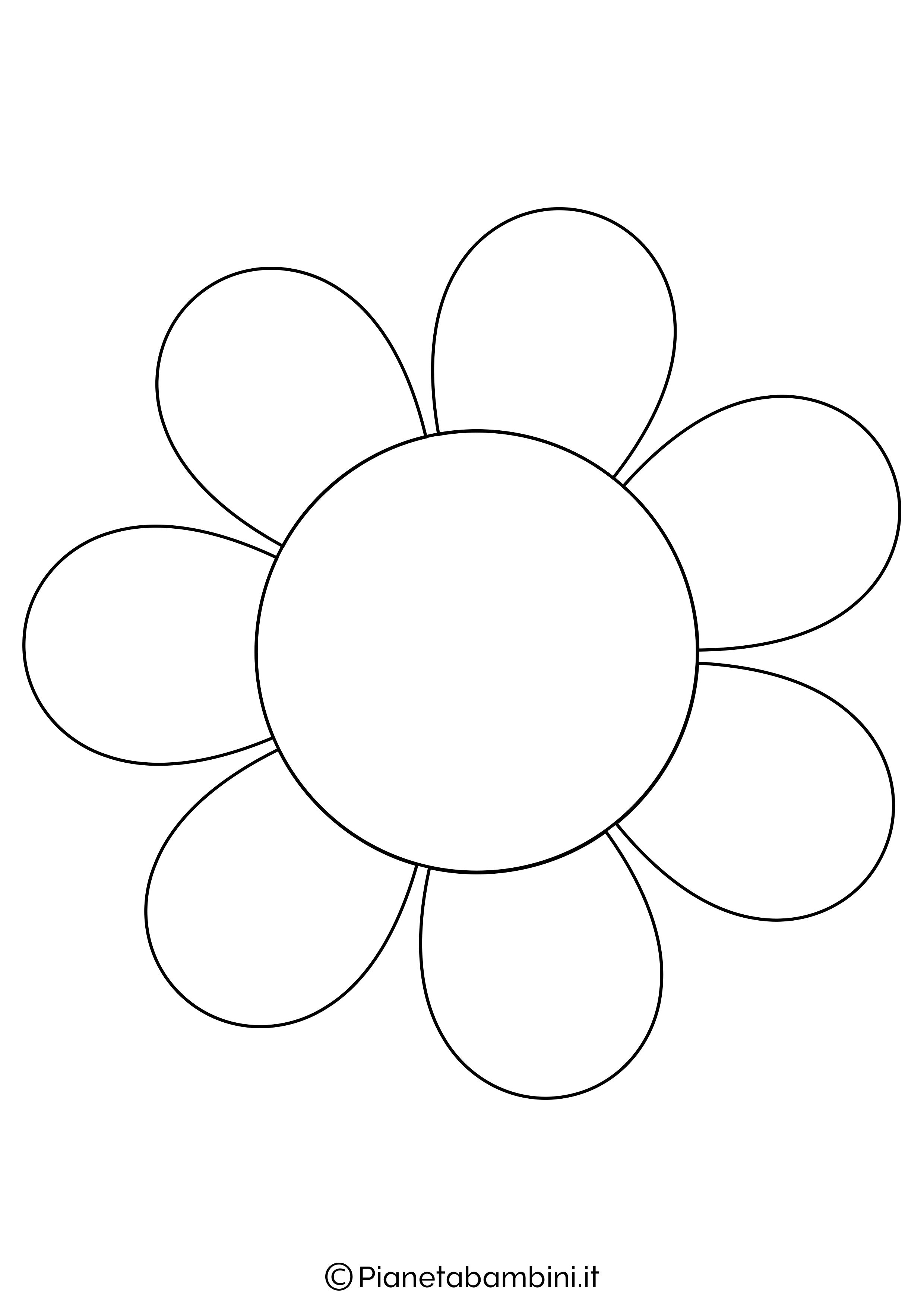 Sagoma di fiore grande da stampare 4