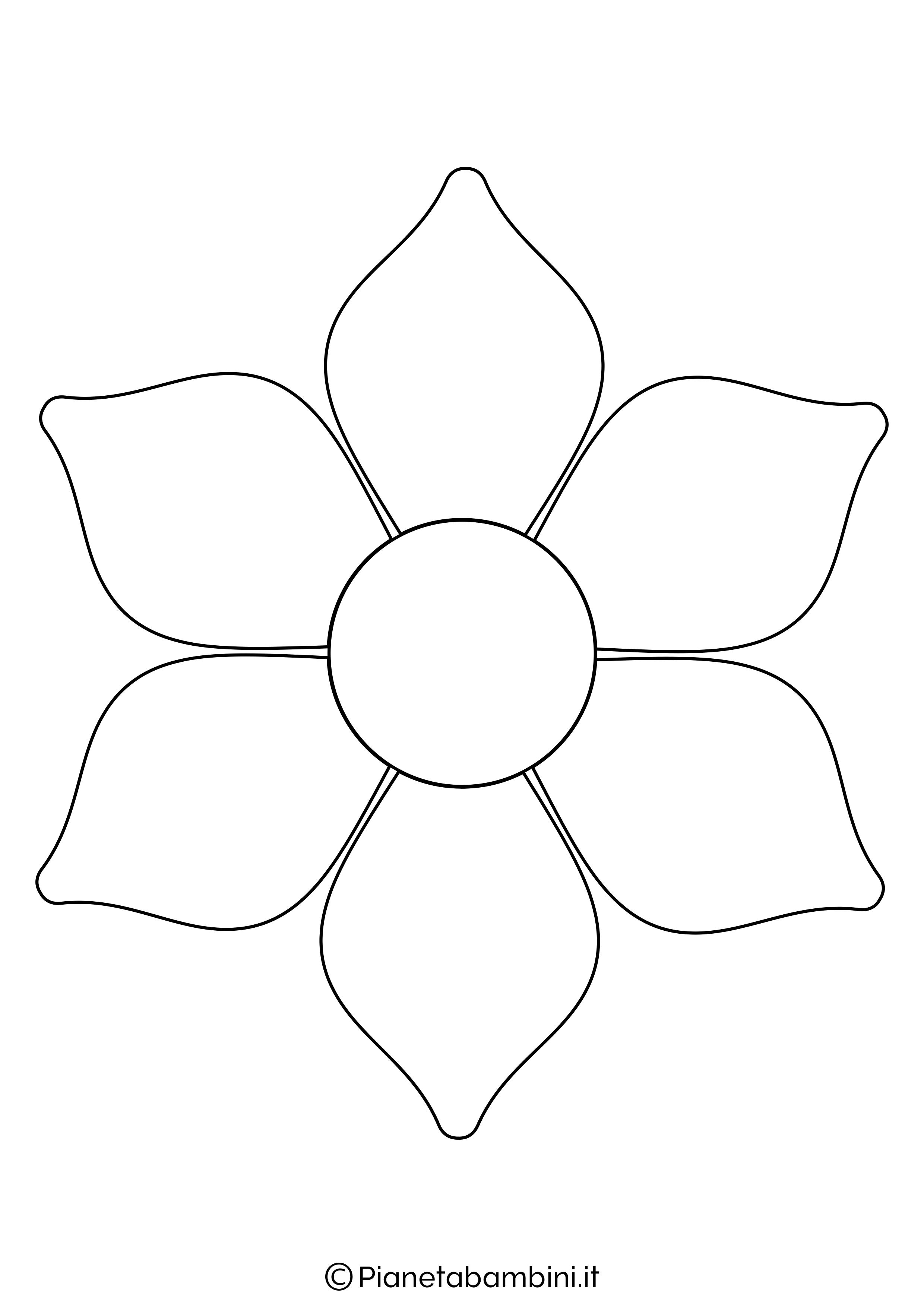 Sagoma di fiore grande da stampare 5