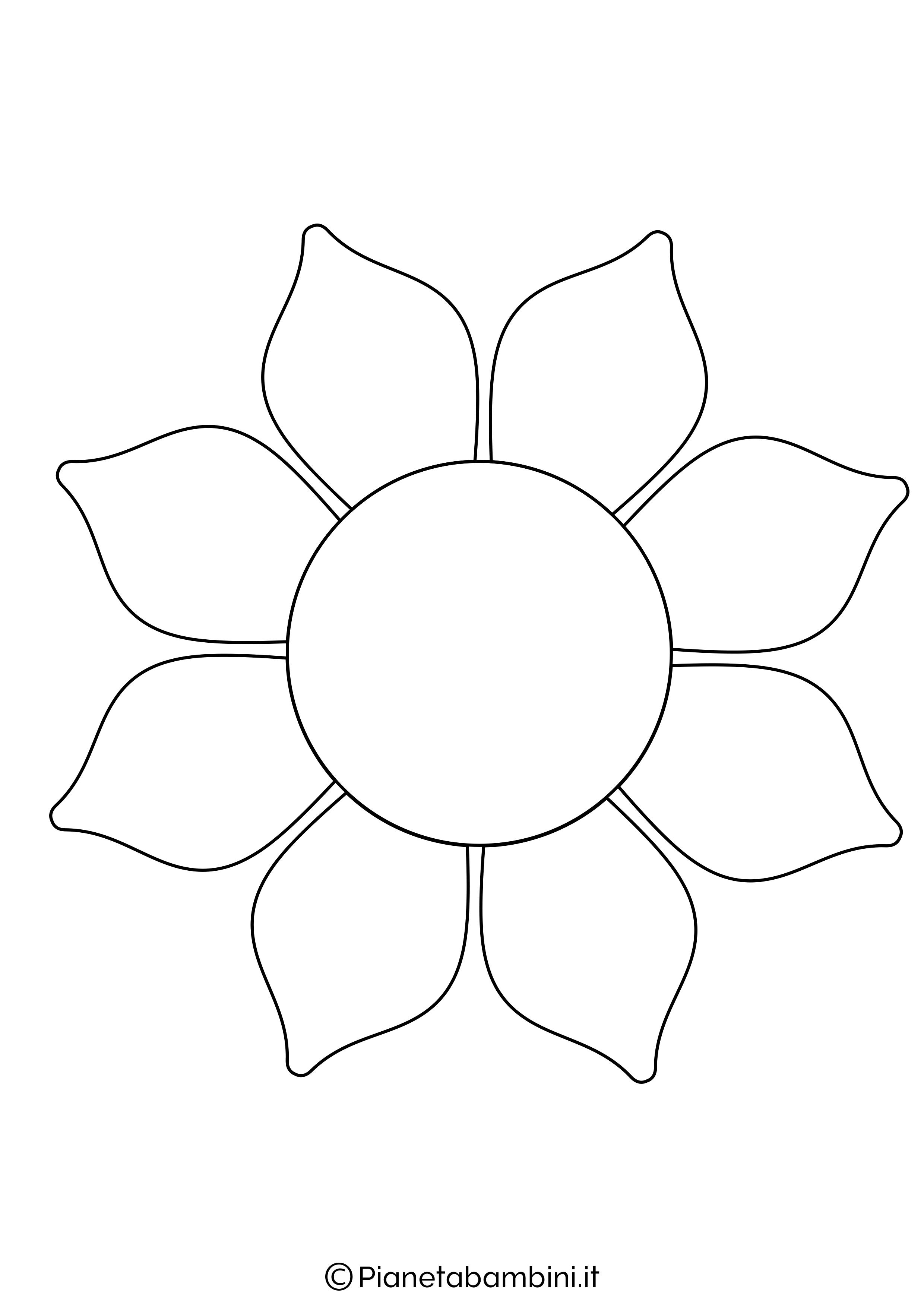Sagoma di fiore grande da stampare 6