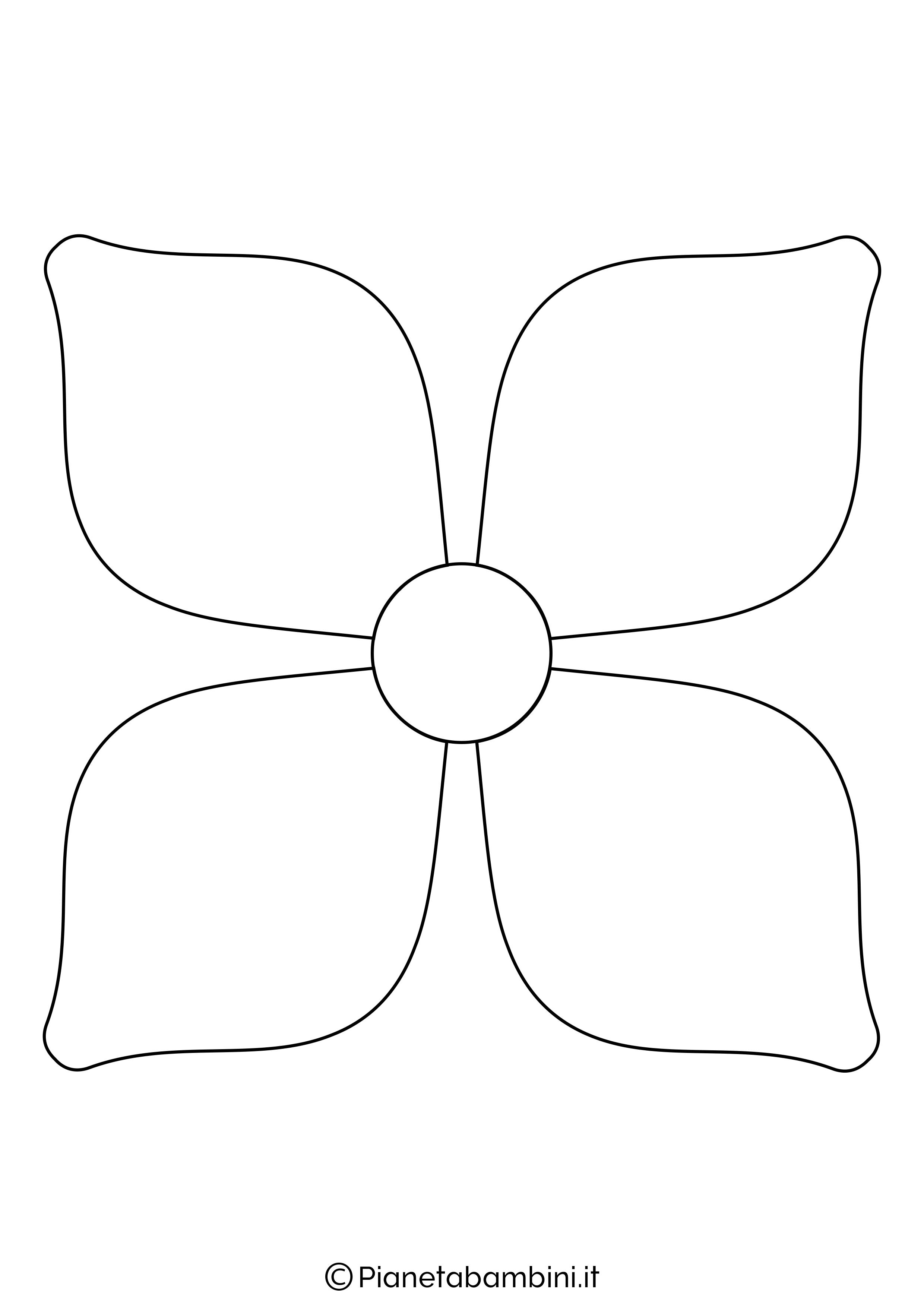 Sagoma di fiore grande da stampare 7