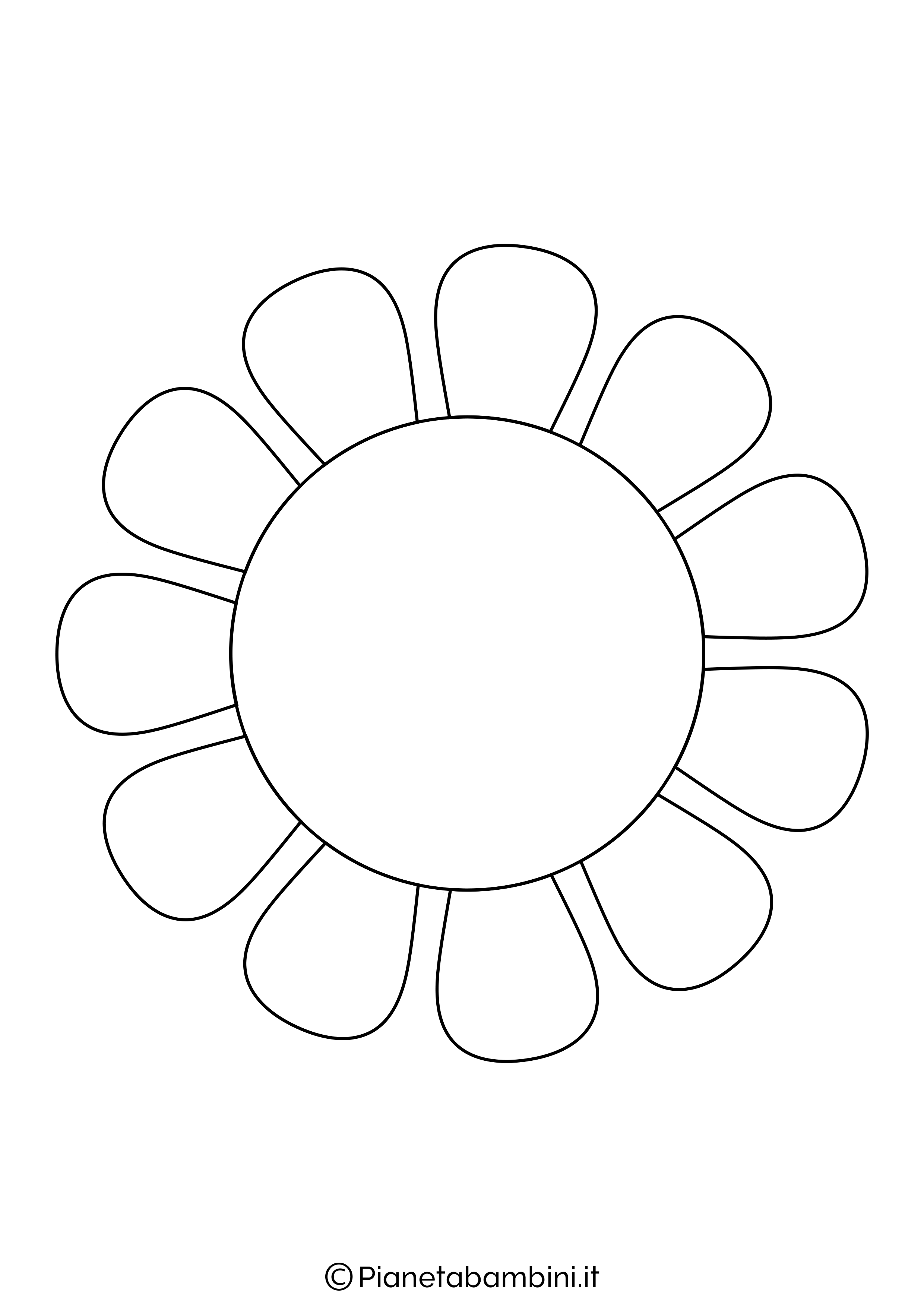 Sagoma di fiore grande da stampare 9