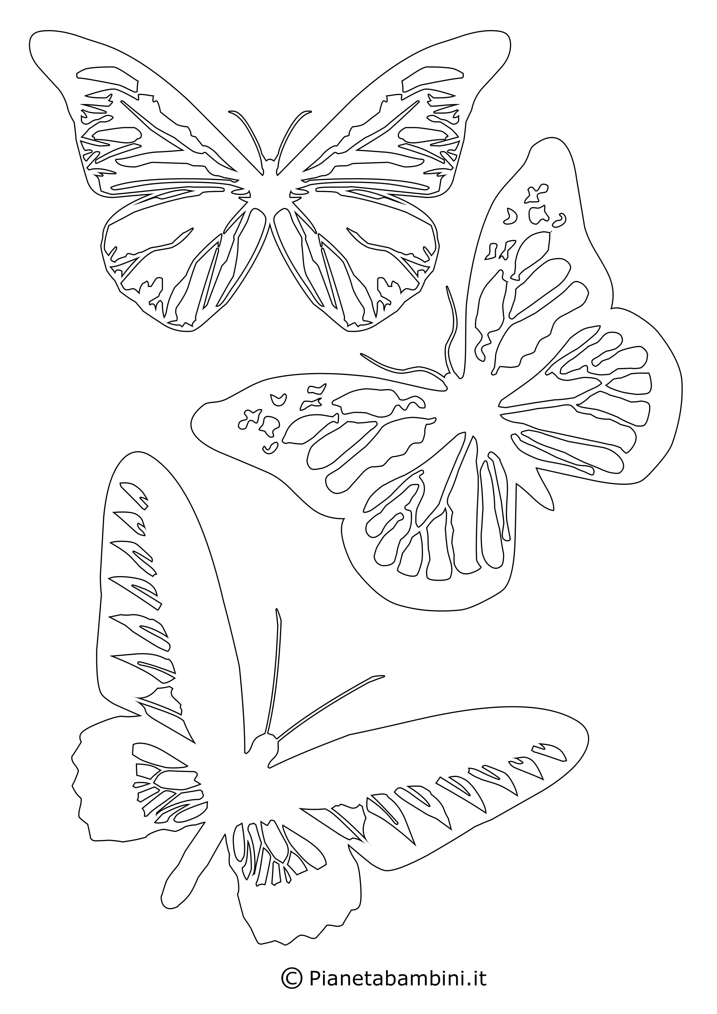 Sagome Di Farfalle Da Colorare E Ritagliare Per Bambini