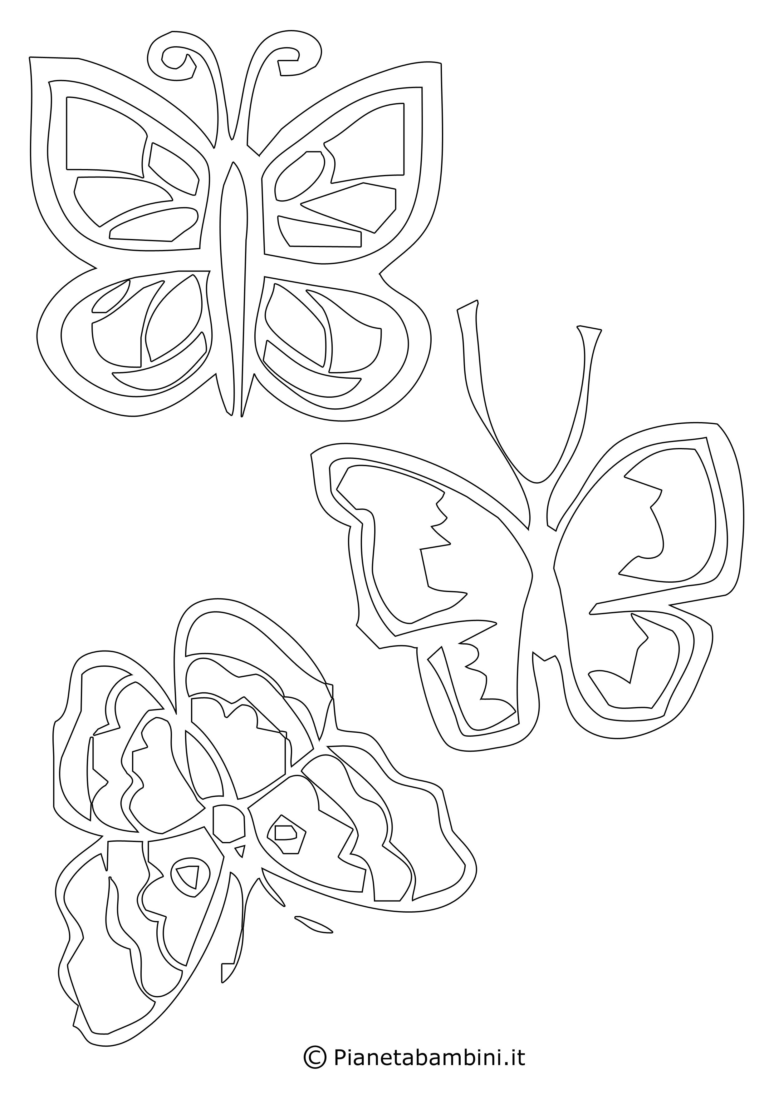 Sagome di farfalle da colorare e ritagliare per bambini for Immagini da stampare di miraculous