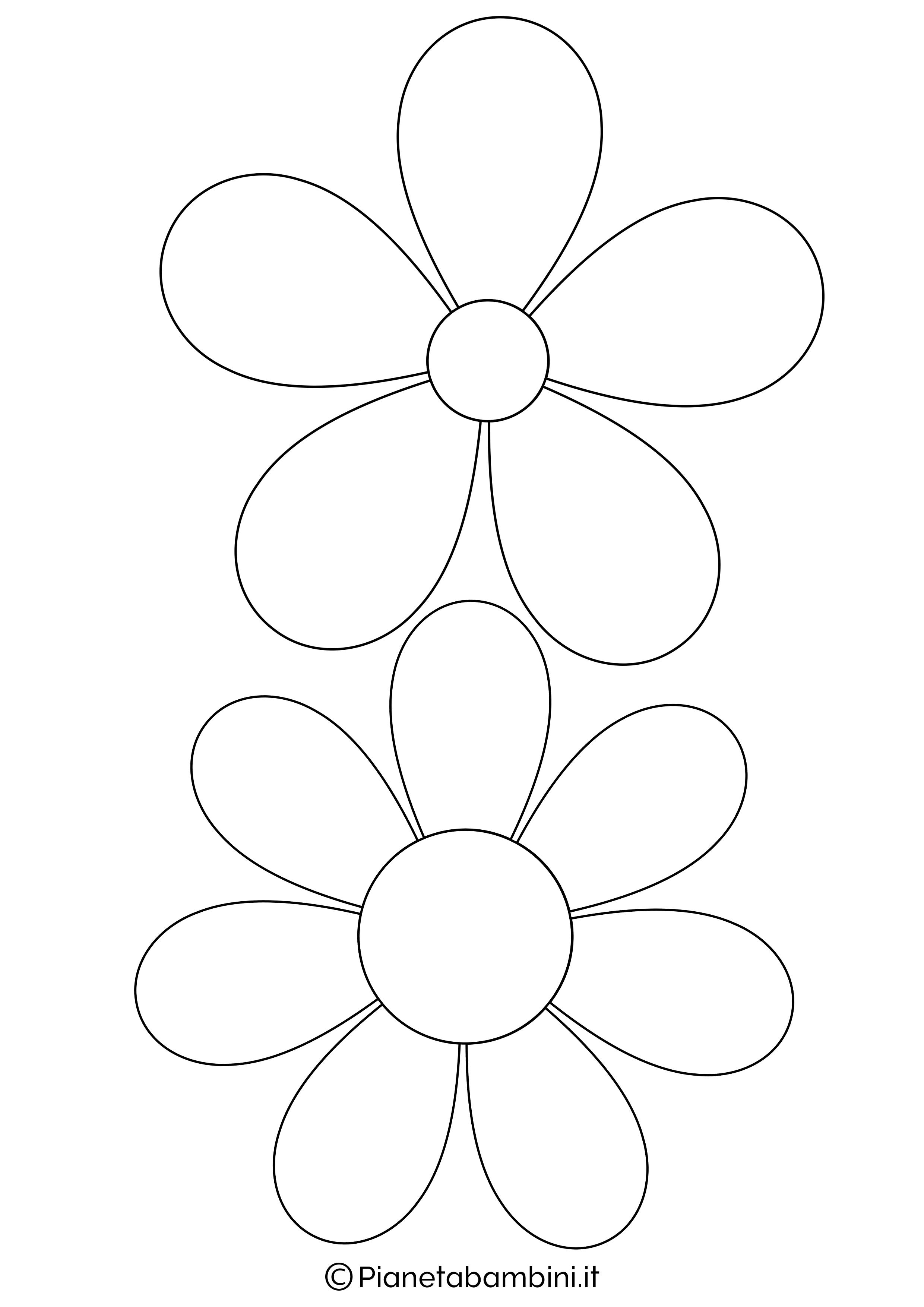 Sagome fiori medie da stampare 1